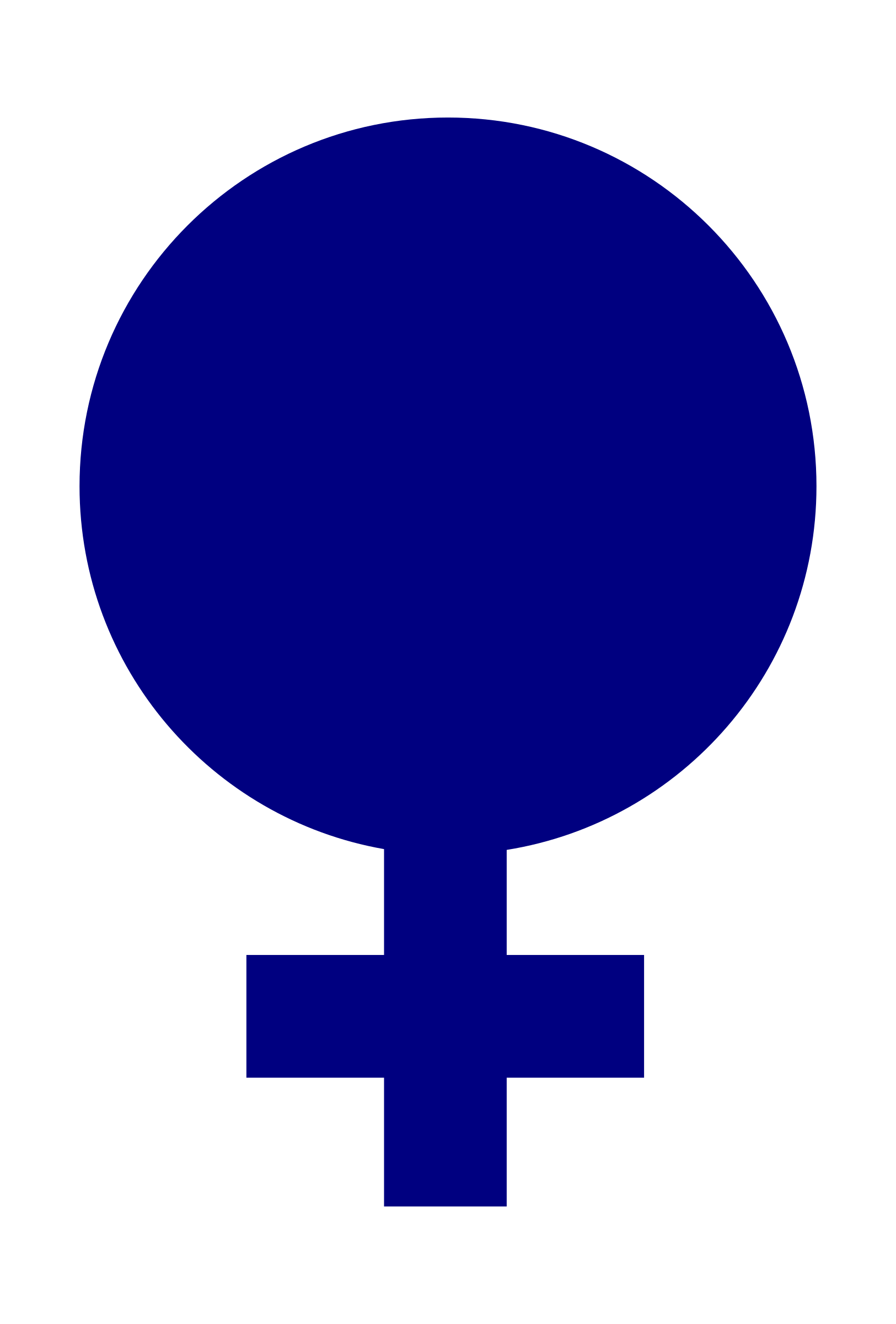 Clipart Female Gender Symbol Filled