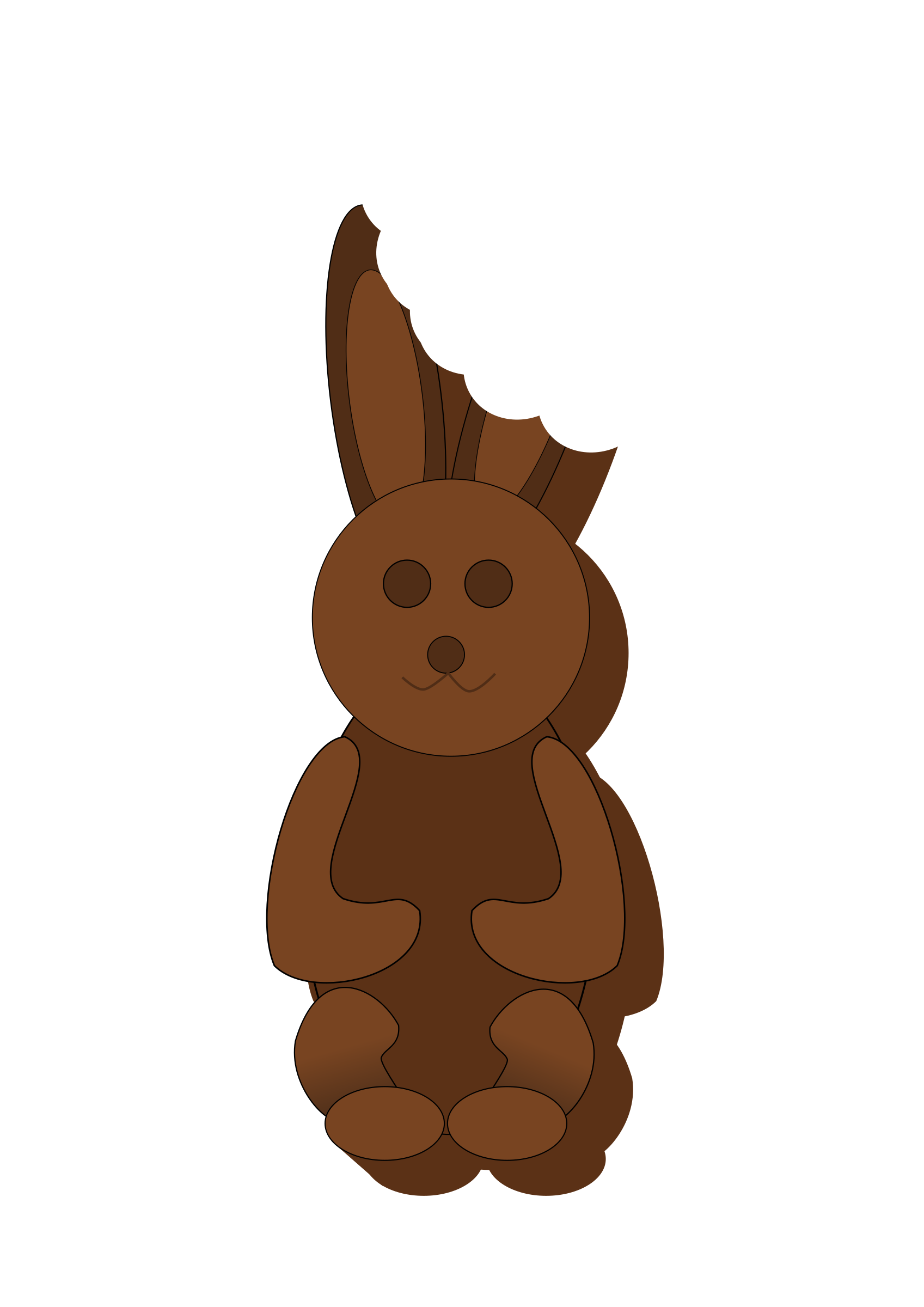Clipart - Chocolate Bunny