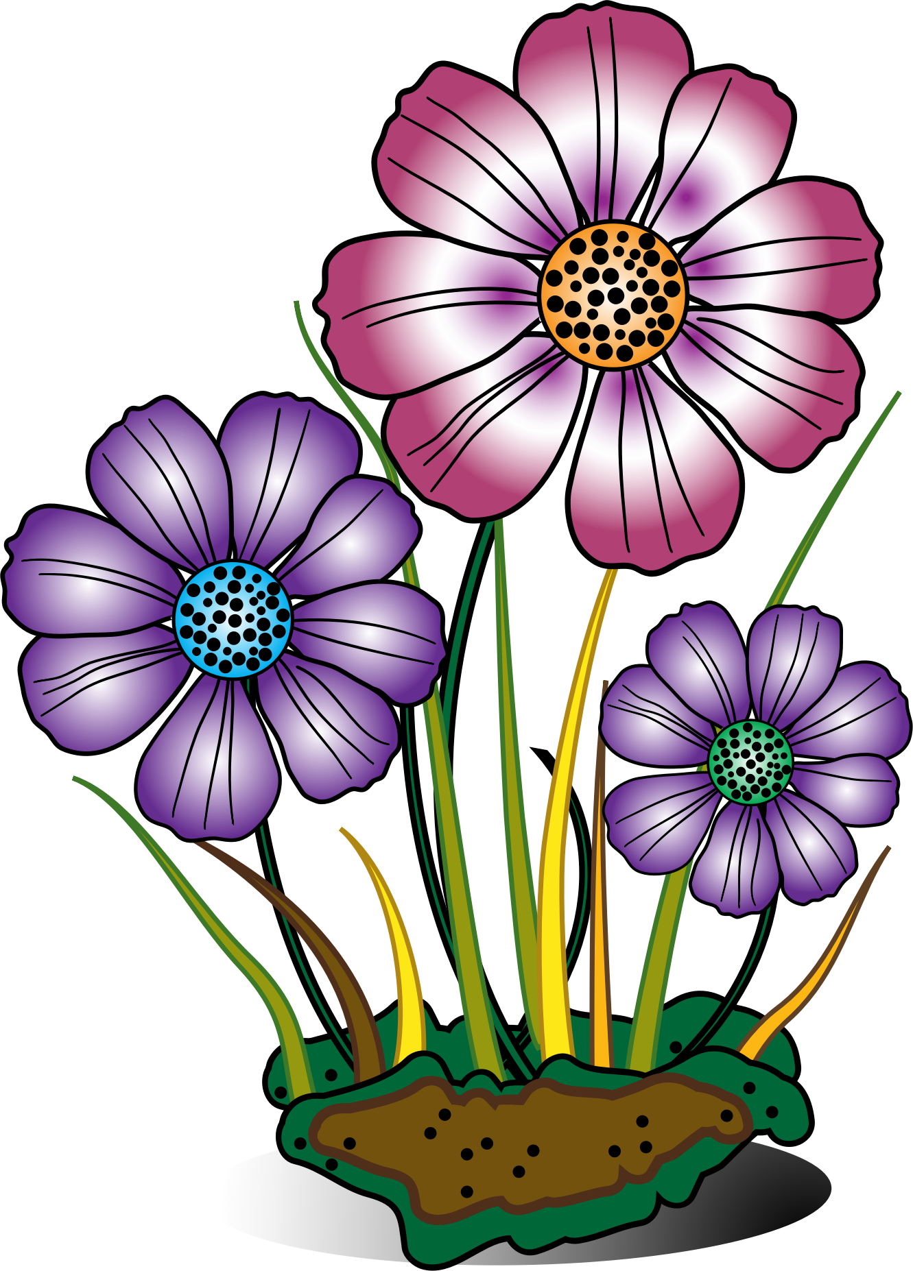 flower in bloom clip art – Cliparts