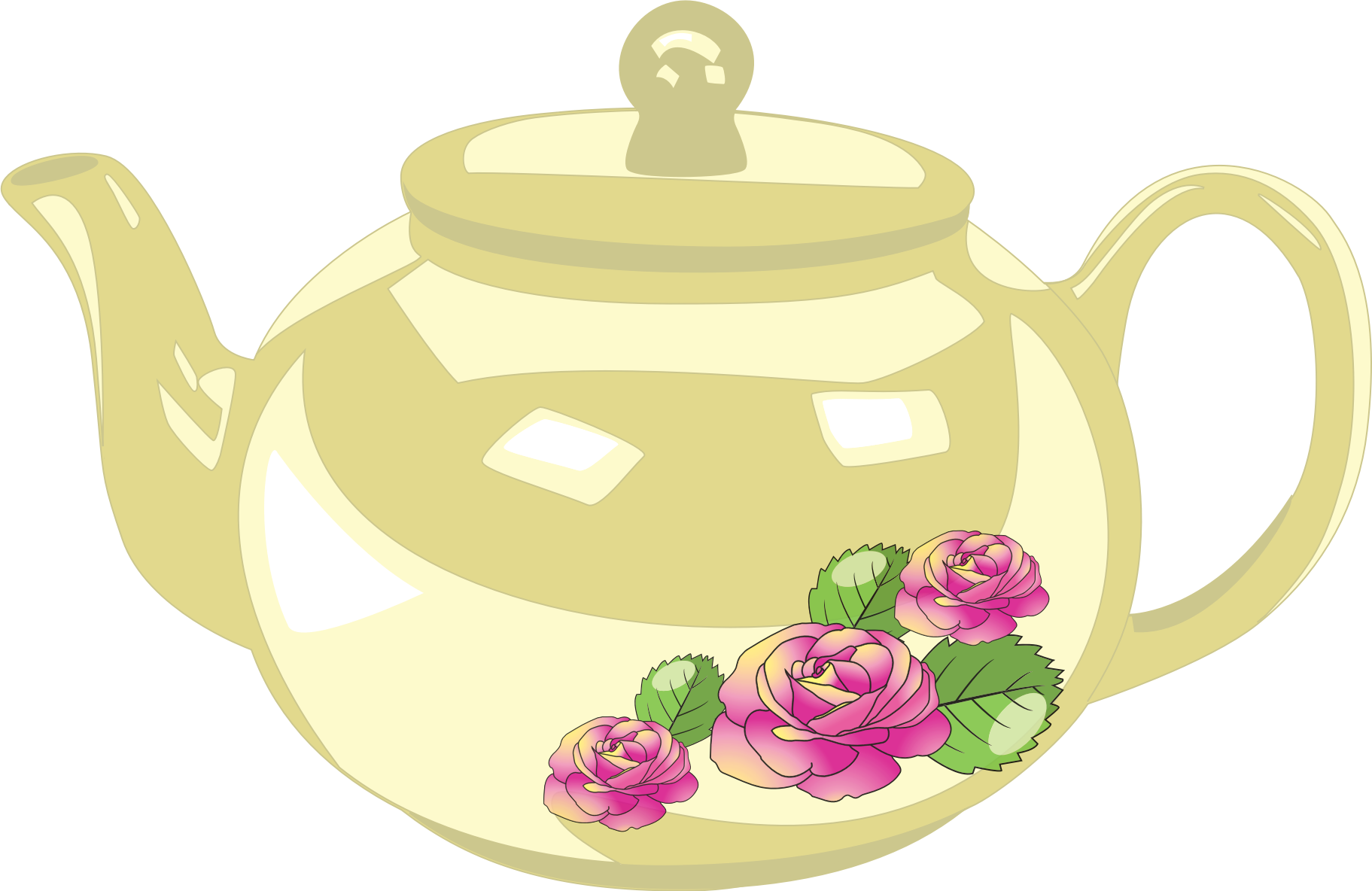 Teapot with Rose decoration by Fractalbee
