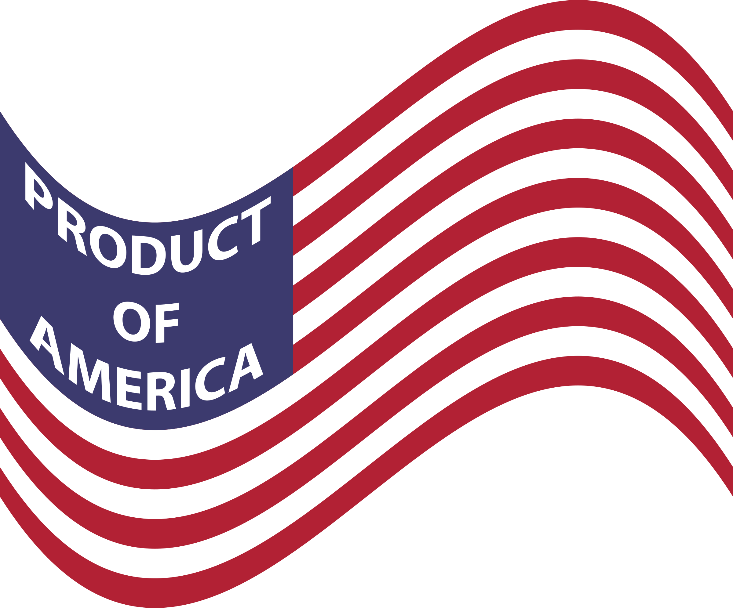 Product Of America Wavy Flag by GDJ