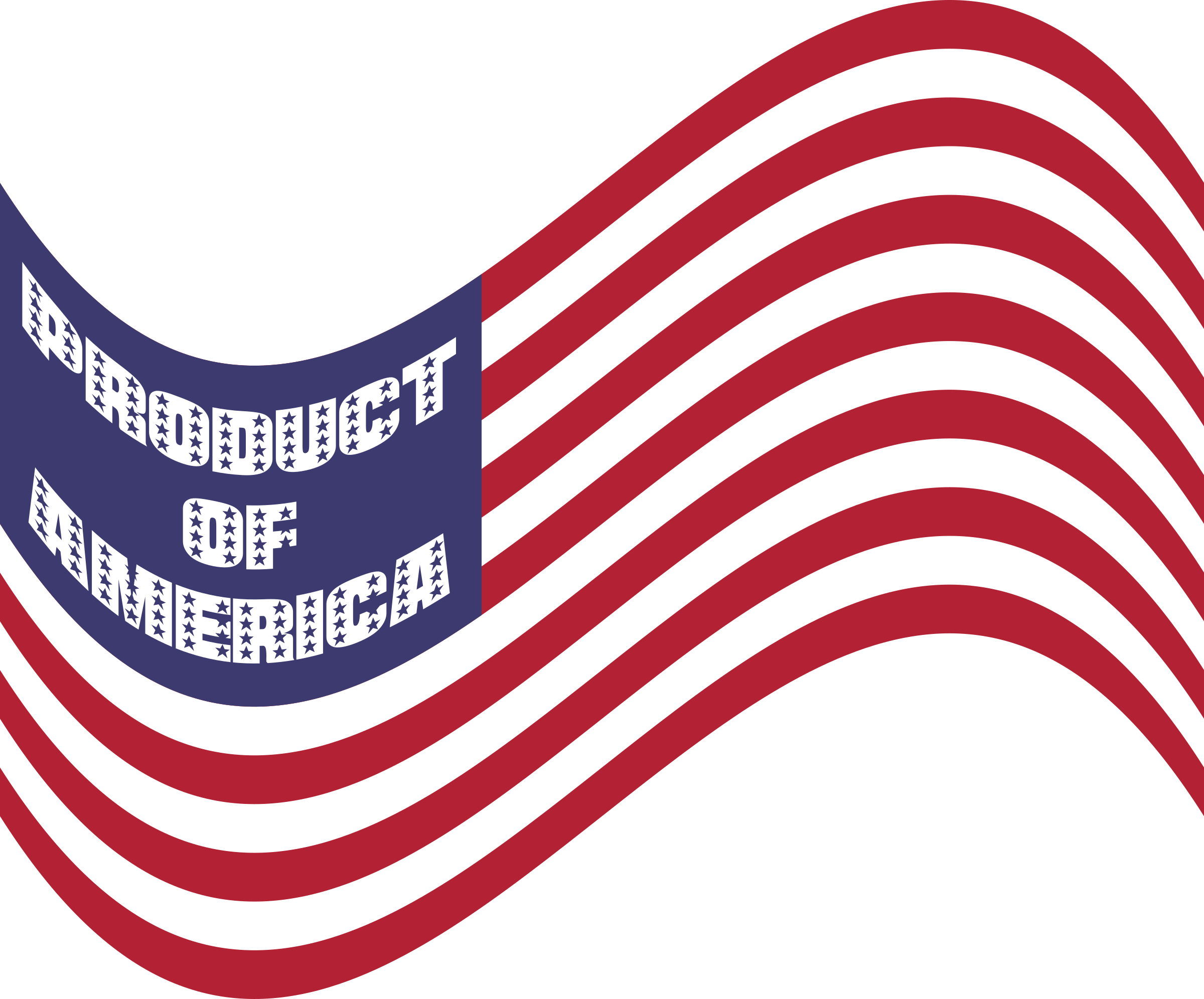 Product Of America Wavy Flag Variation 2 by GDJ