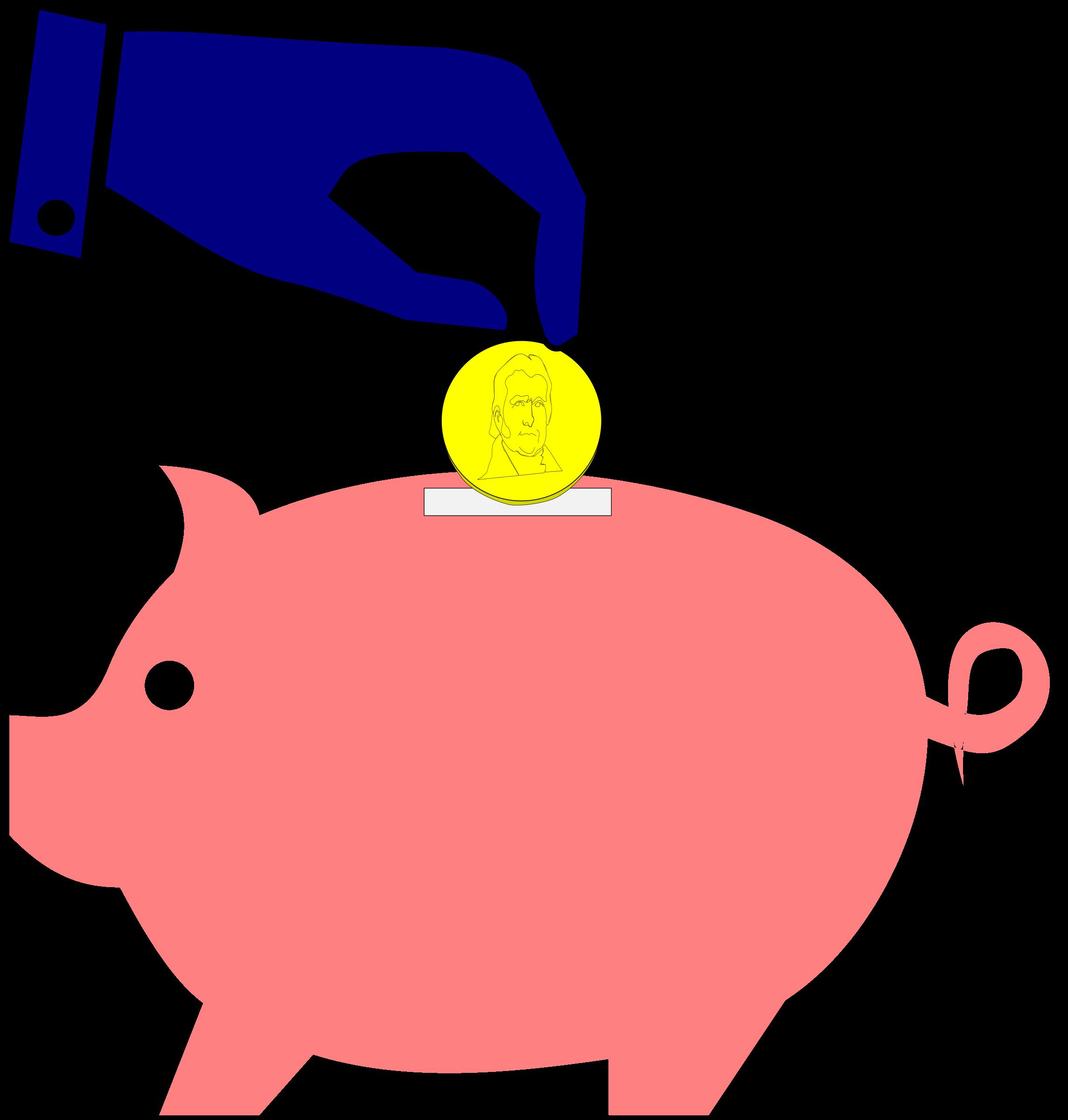 Piggybank Hand + Coin by algotruneman