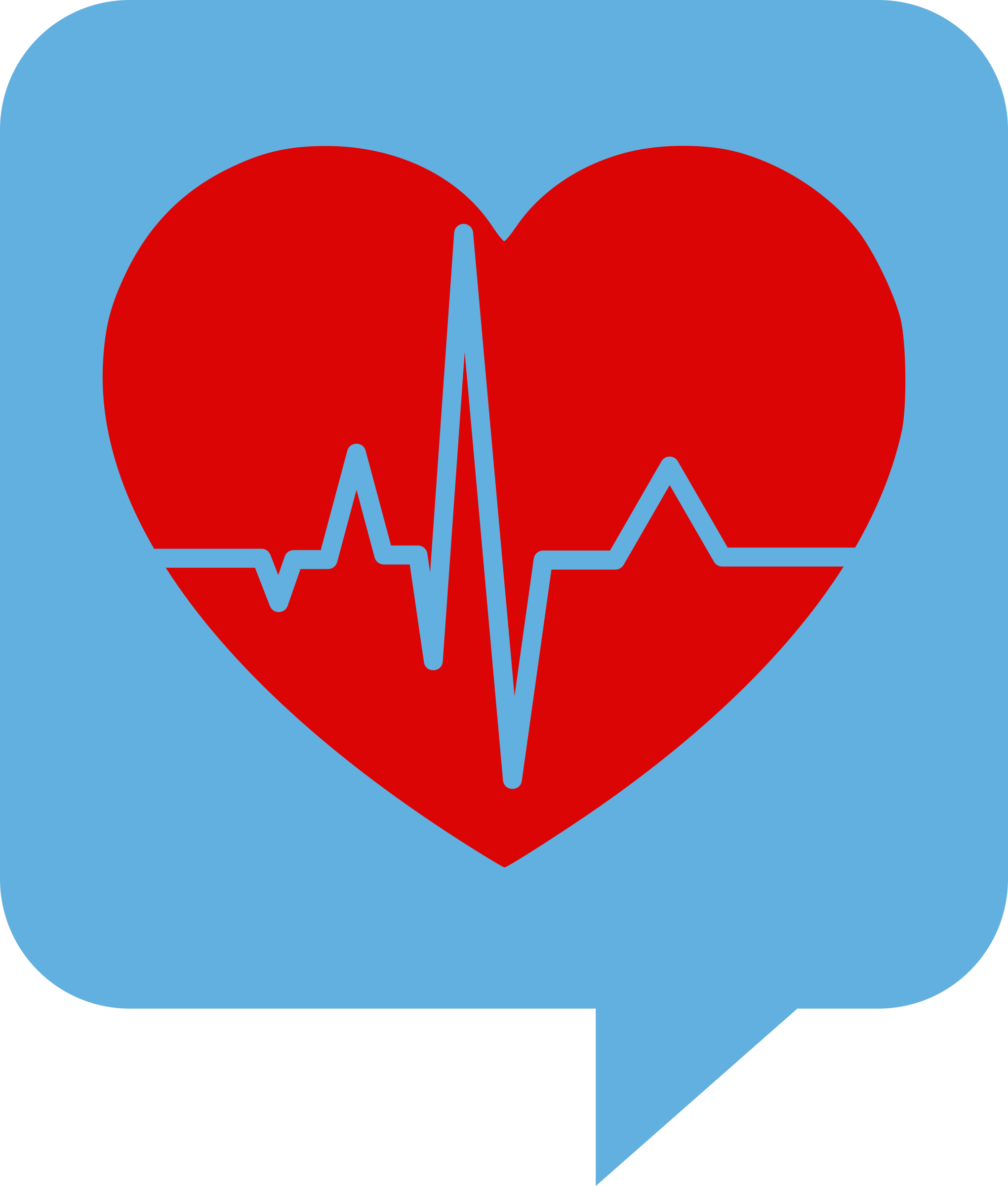 Clipart - Heartbeat Logo for Health.SE. No background. Red heart