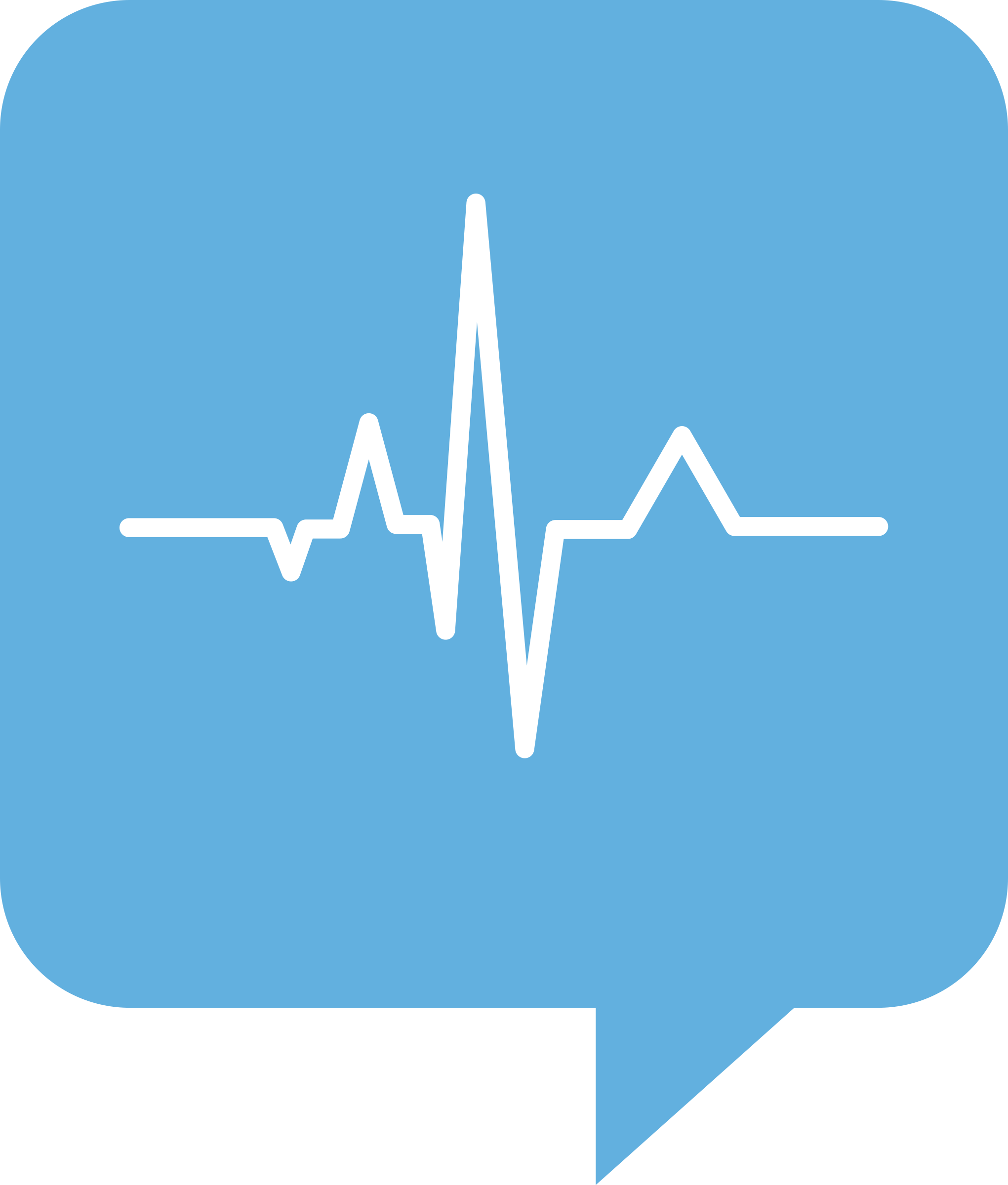 ECG Logo for Health.SE. No background. White trace by timtjtim