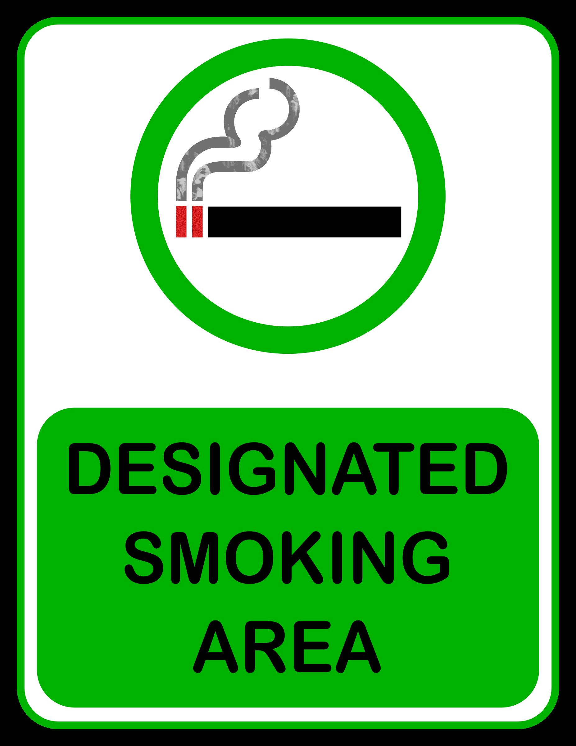 Clipart - Designated Smoking Area