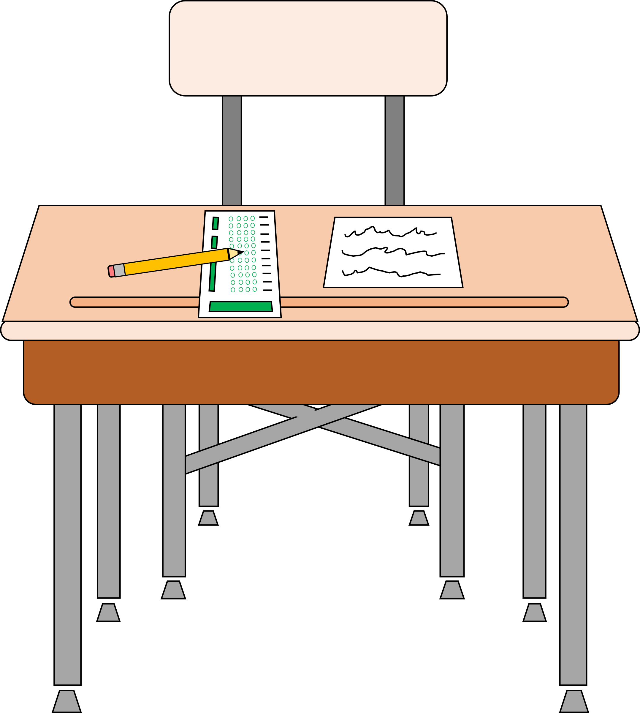 Clipart empty seat for standardized test for Set de table transparent