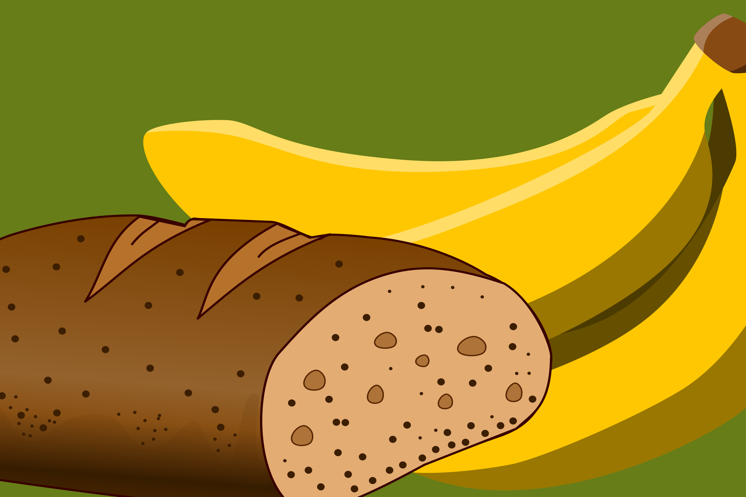 Bread and banana as still life by yamachem