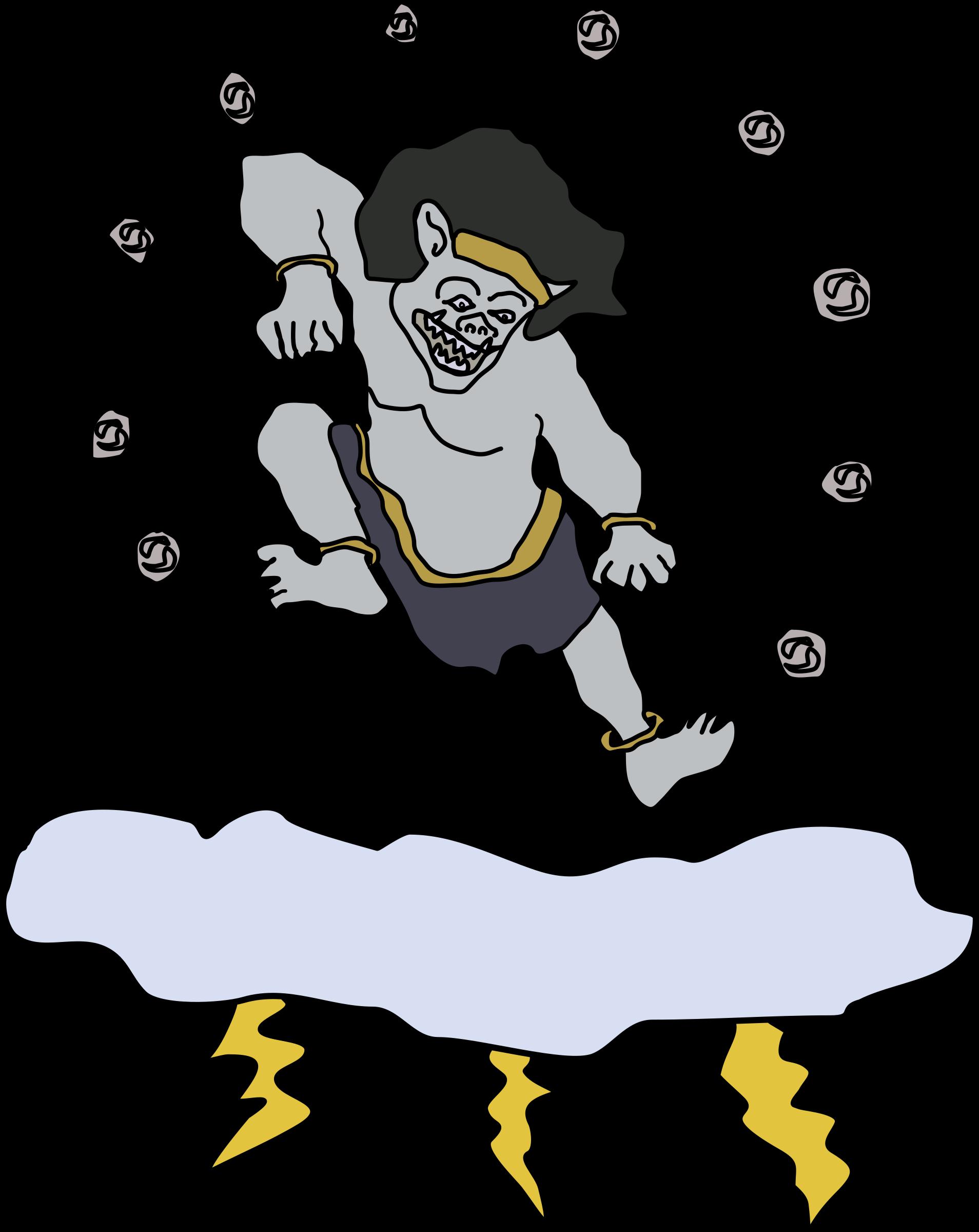 Raijin - The God of Thunder by j4p4n