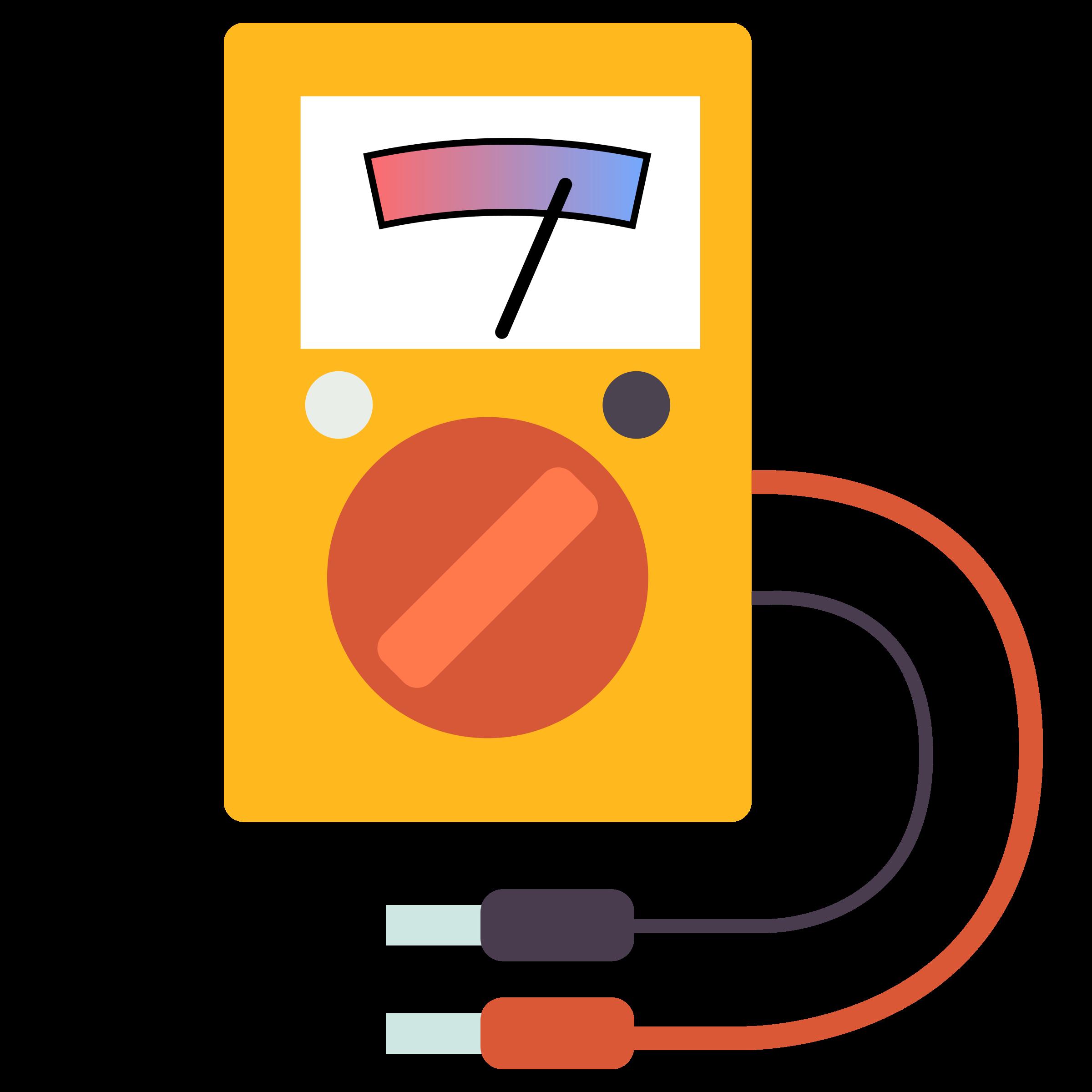 Multimeter Clip Art : Clipart multimeter flat design
