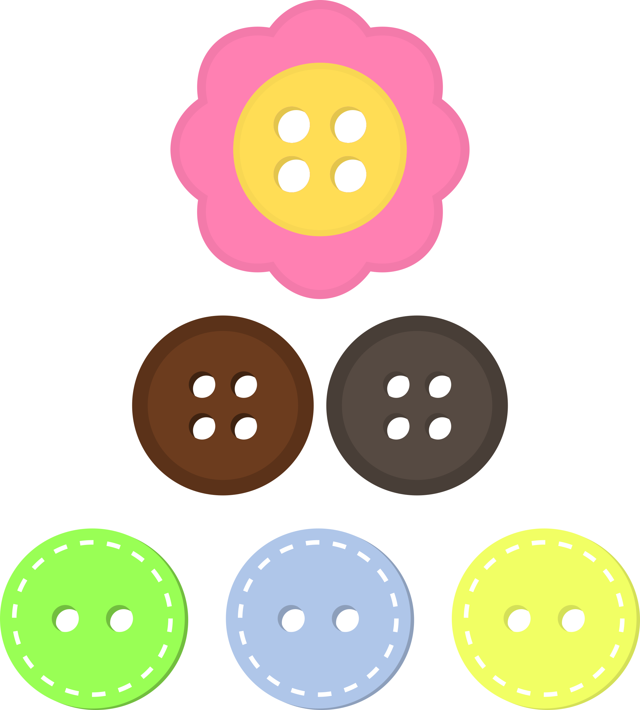 Assorted Buttons by Animystik