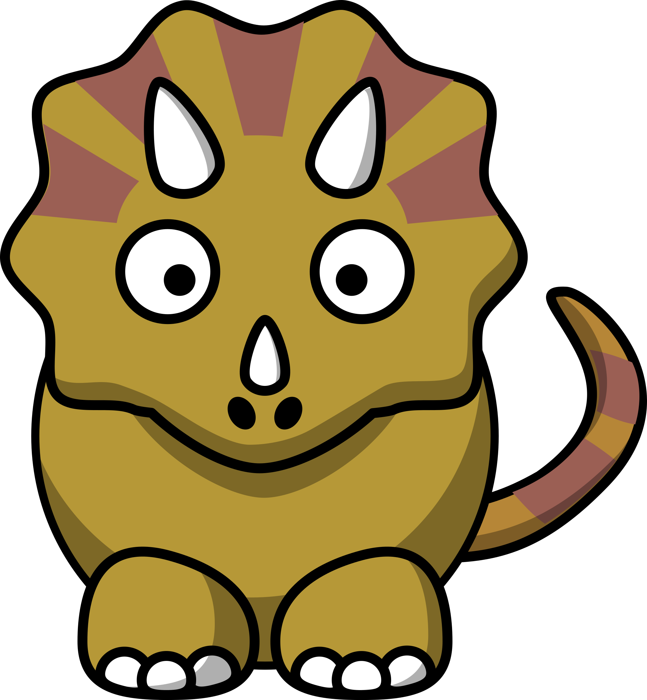 Stripy triceratops by anarres