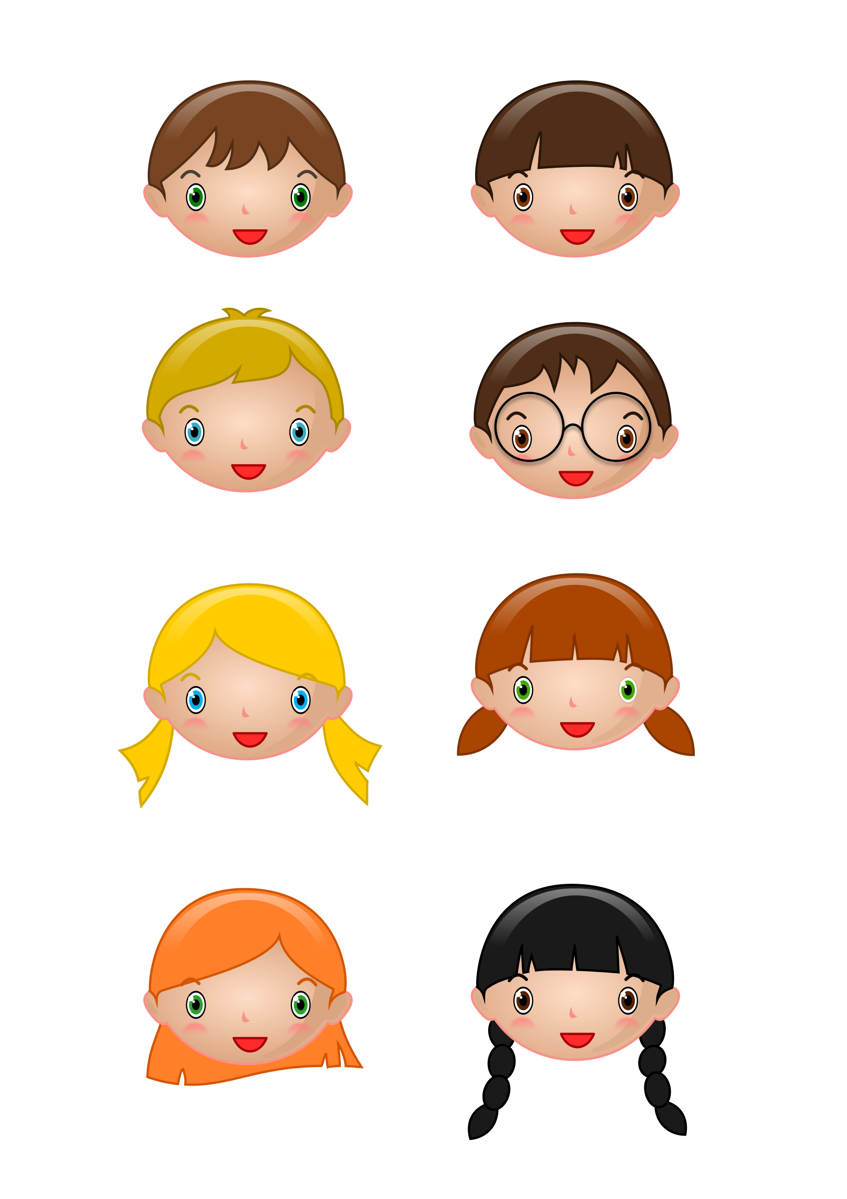 Kids faces by TheStructorr