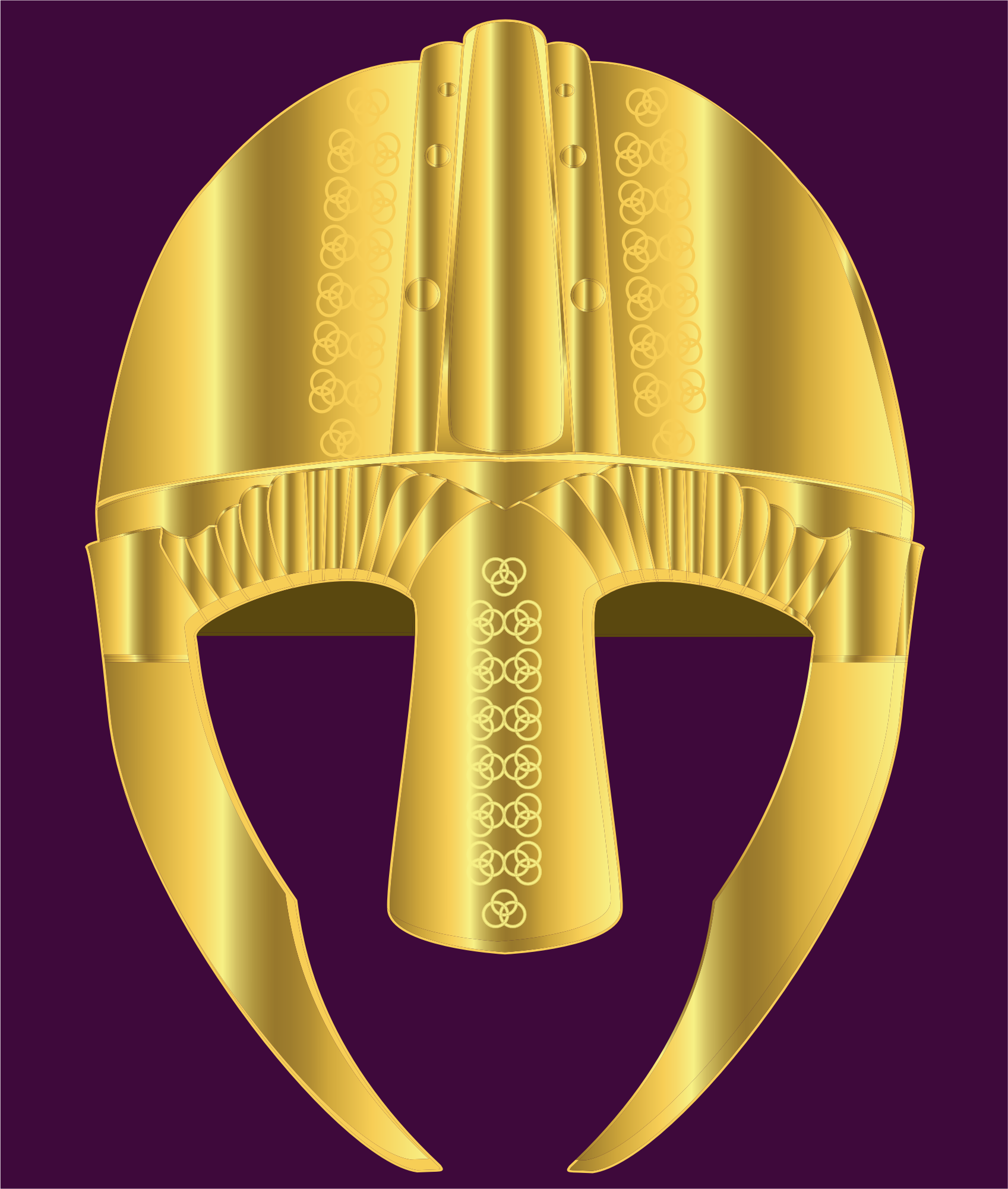 Helmet of gold with Celtic decoration by Fractalbee