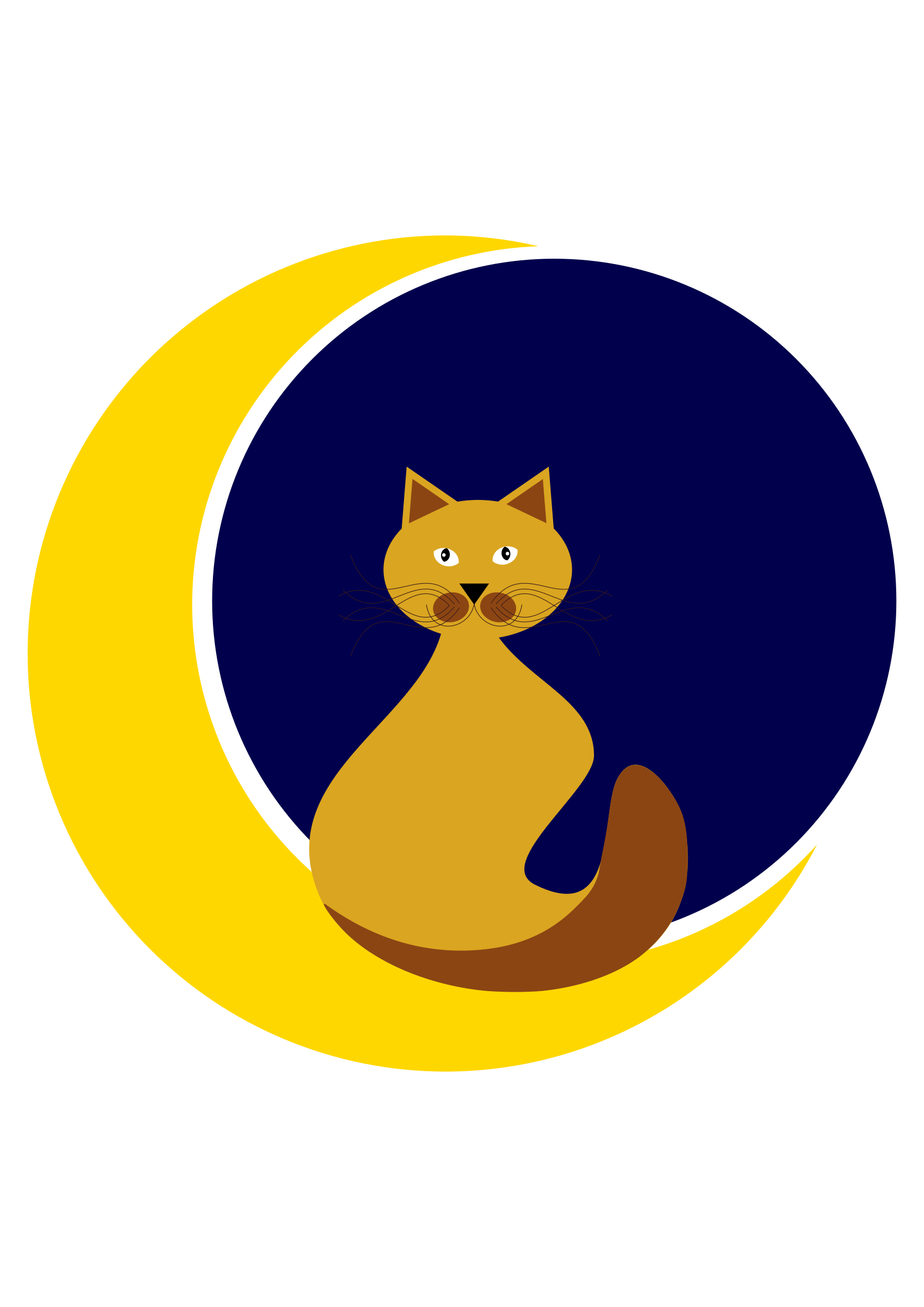 Cat with moon (#dailysketch) by Almeidah