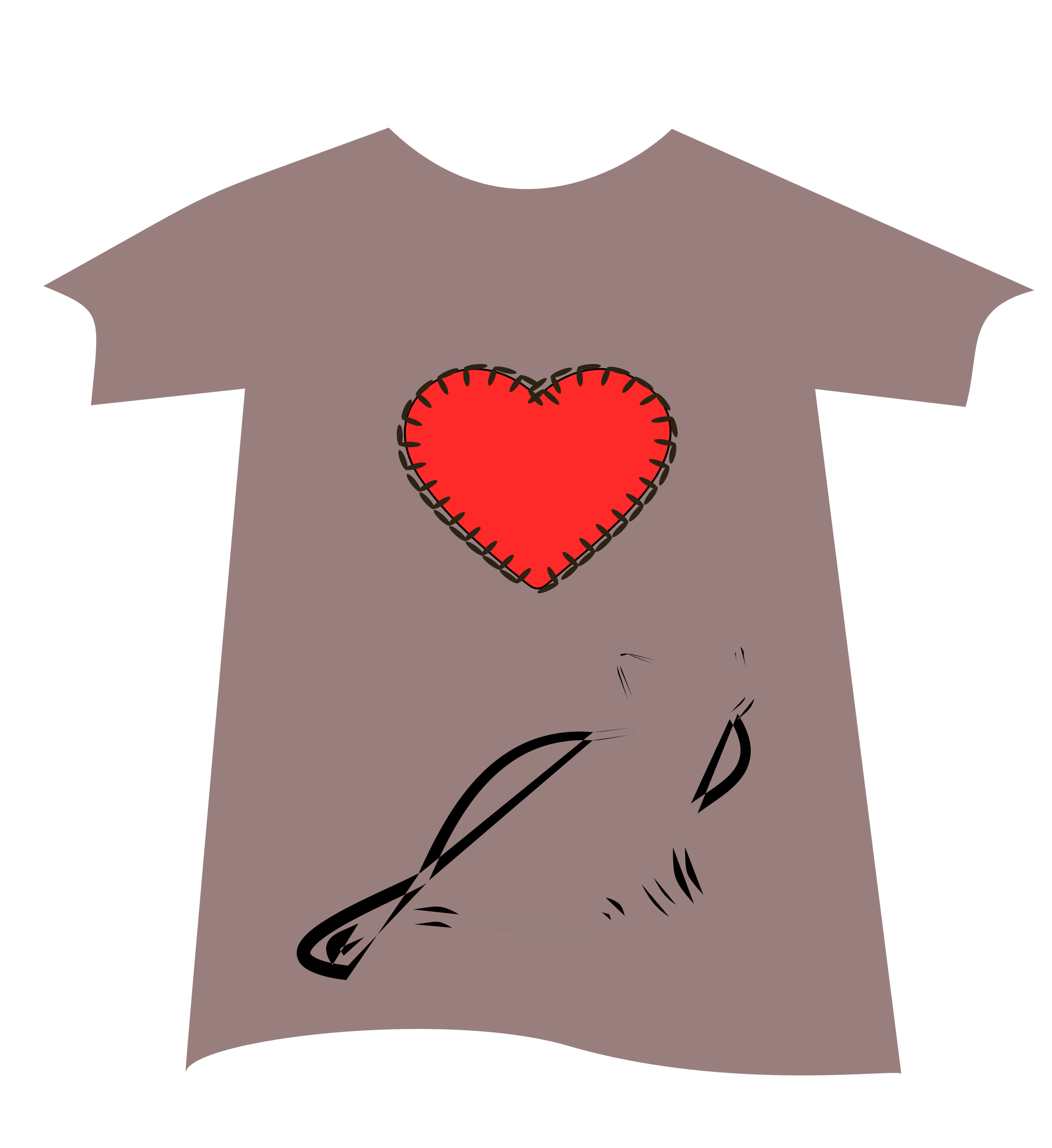 Tshirt-heart by yamachem