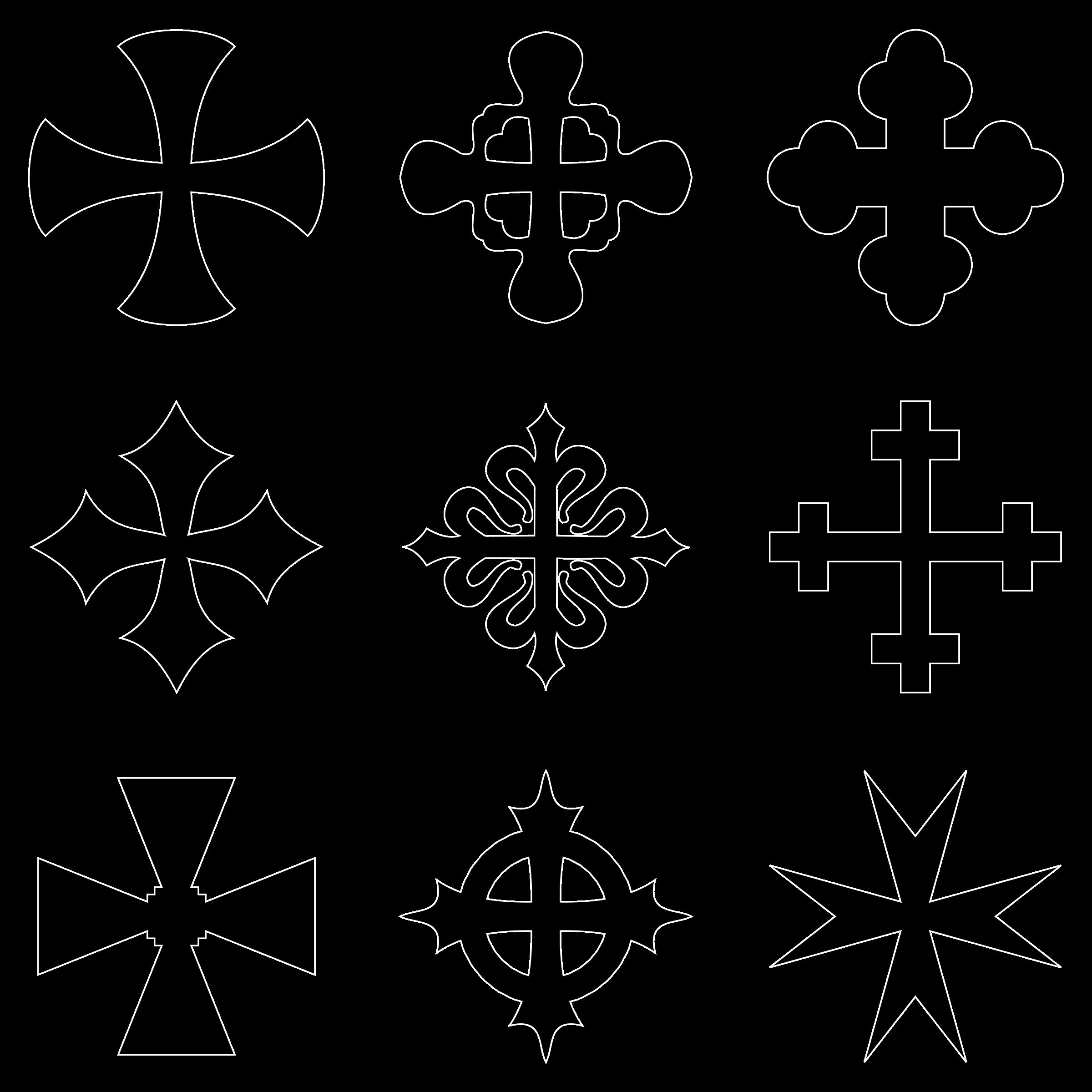 Clipart - heraldic crosses