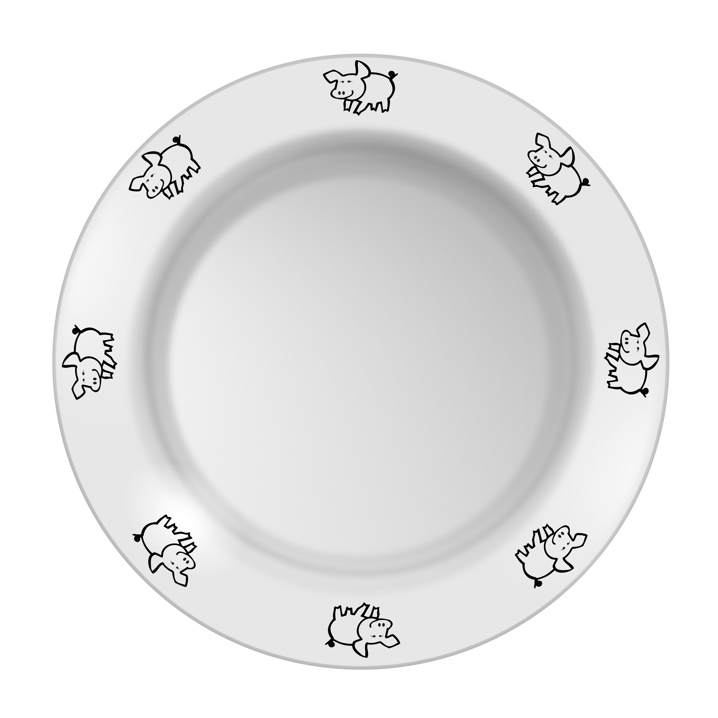 Plate with pig pattern by yamachem