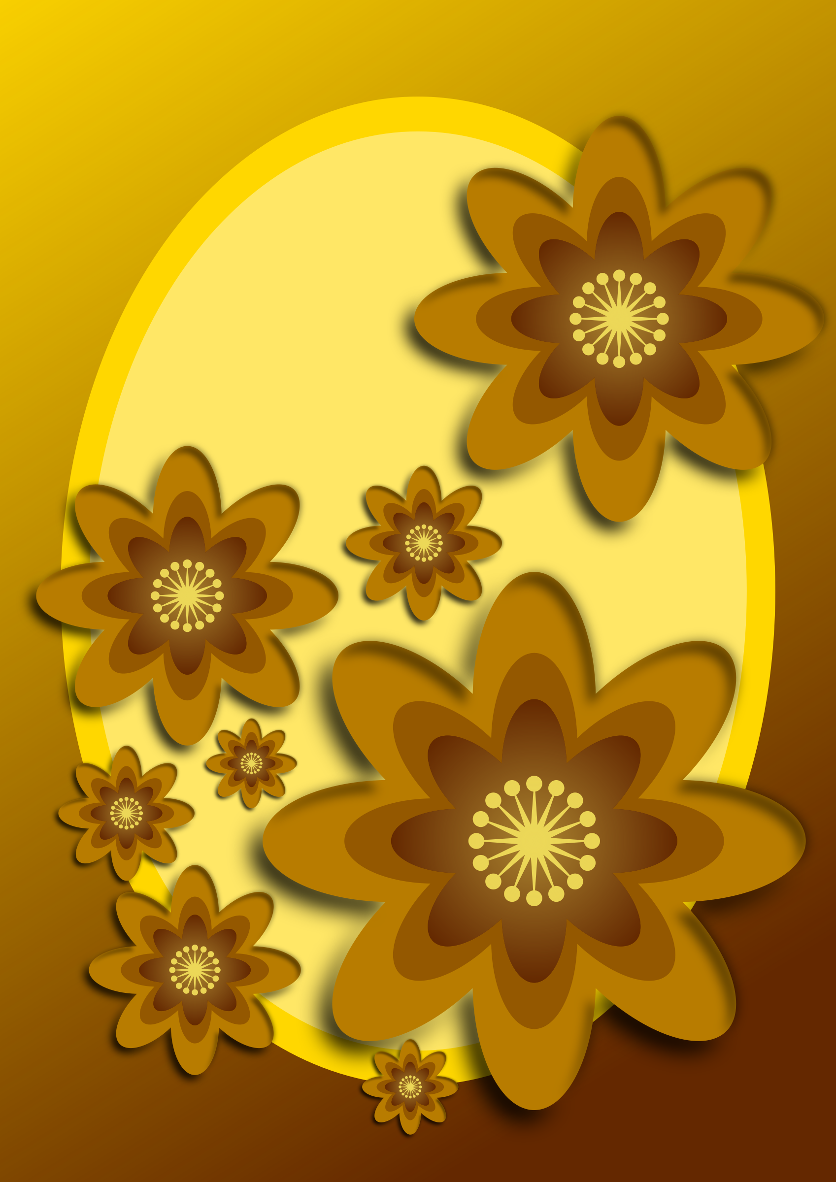 Golden flowers by Almeidah