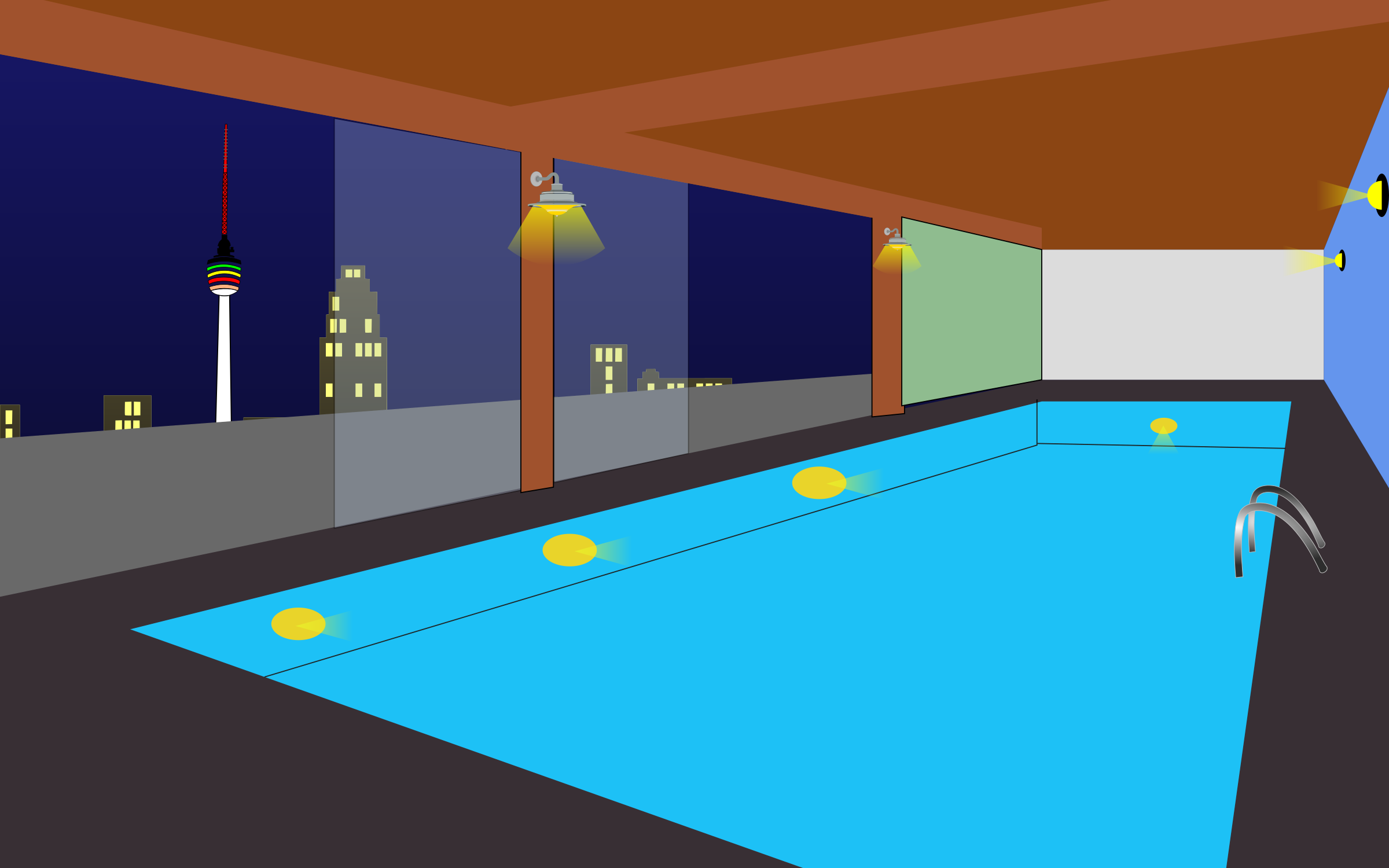 Indoor swimming pool by derkommander0916