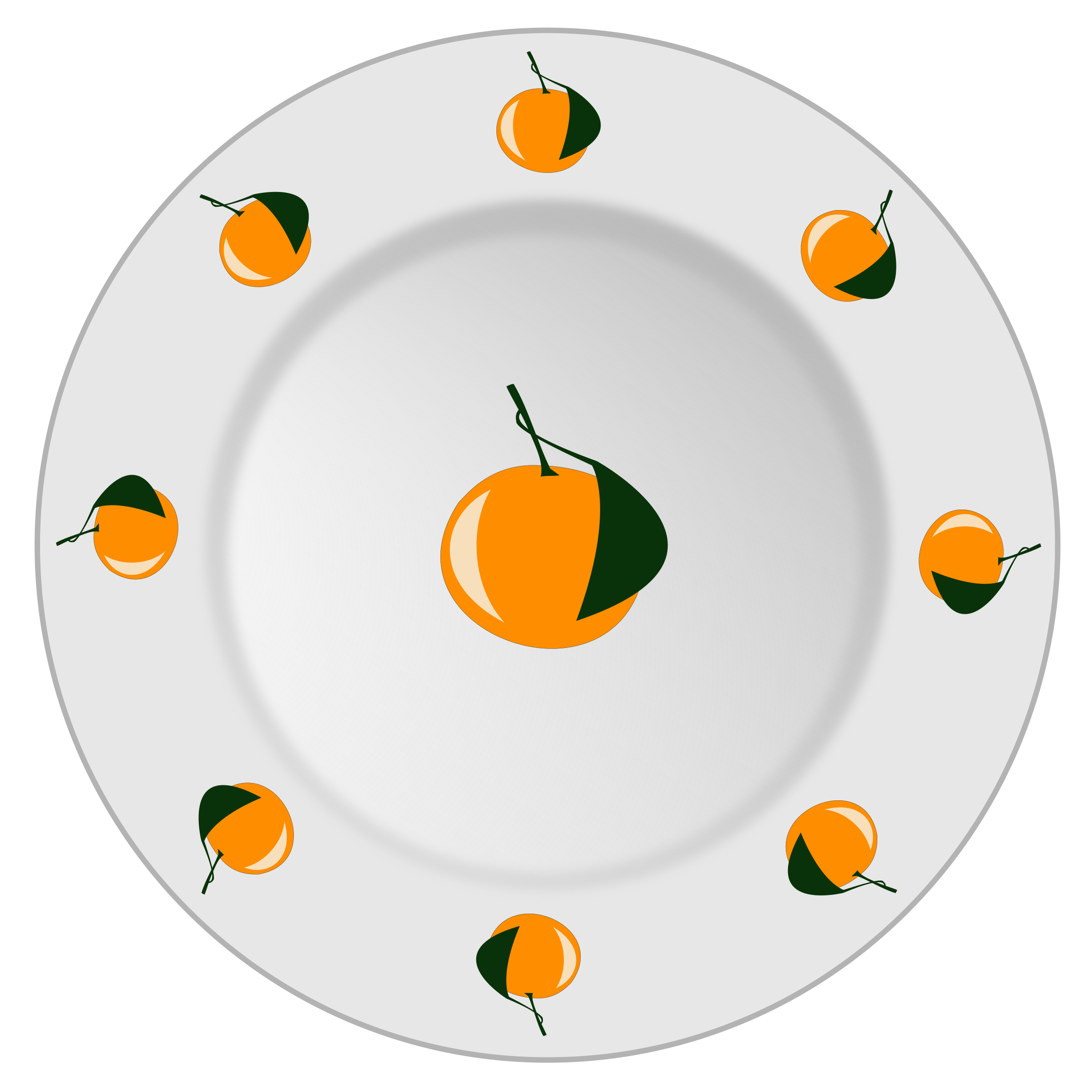Plate with orange pattern by yamachem