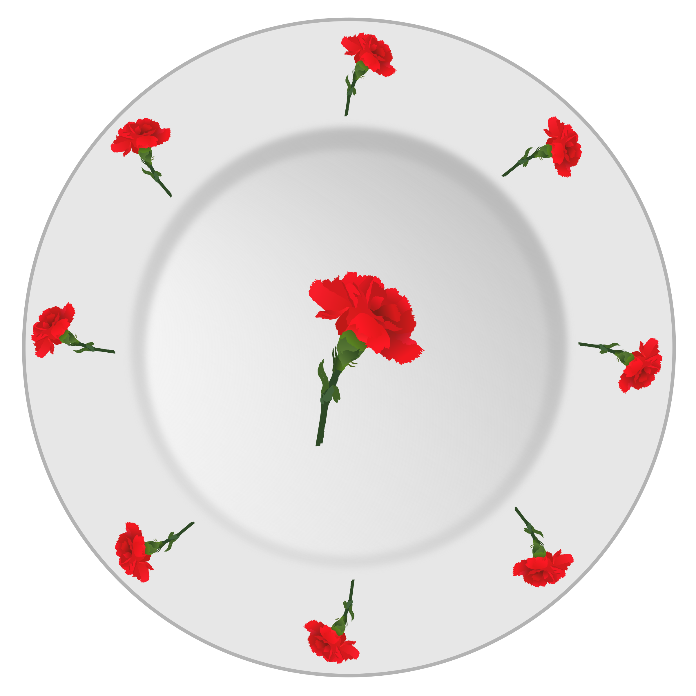Plate with carnation pattern by yamachem