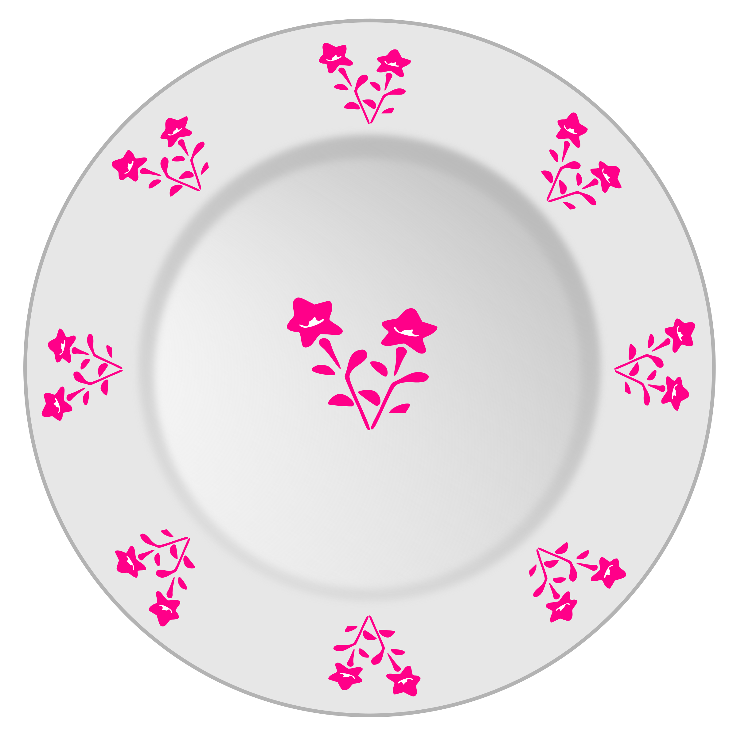 Plate with flower pattern 2 by yamachem