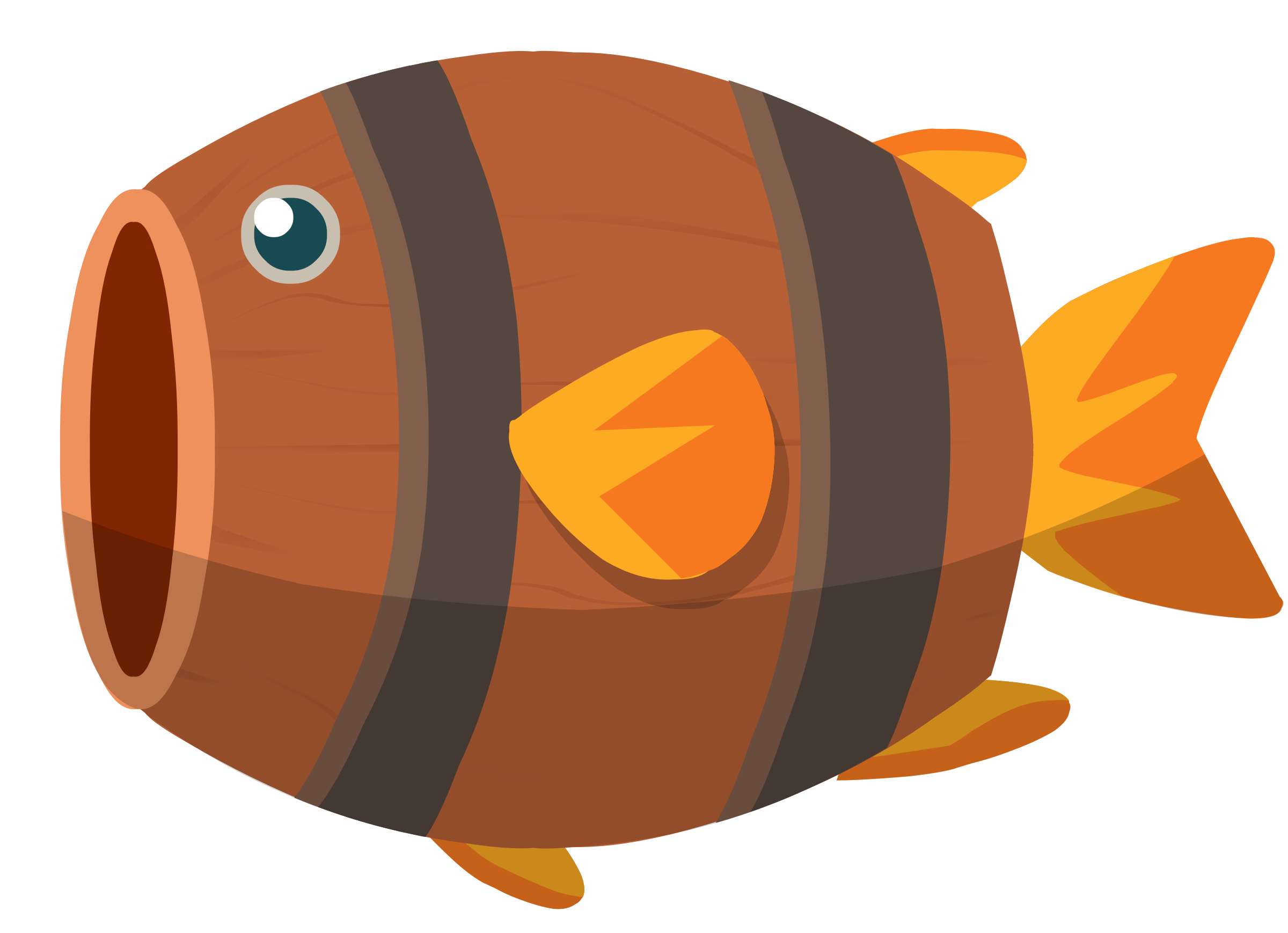 Barrel Fish Animation by danjiro