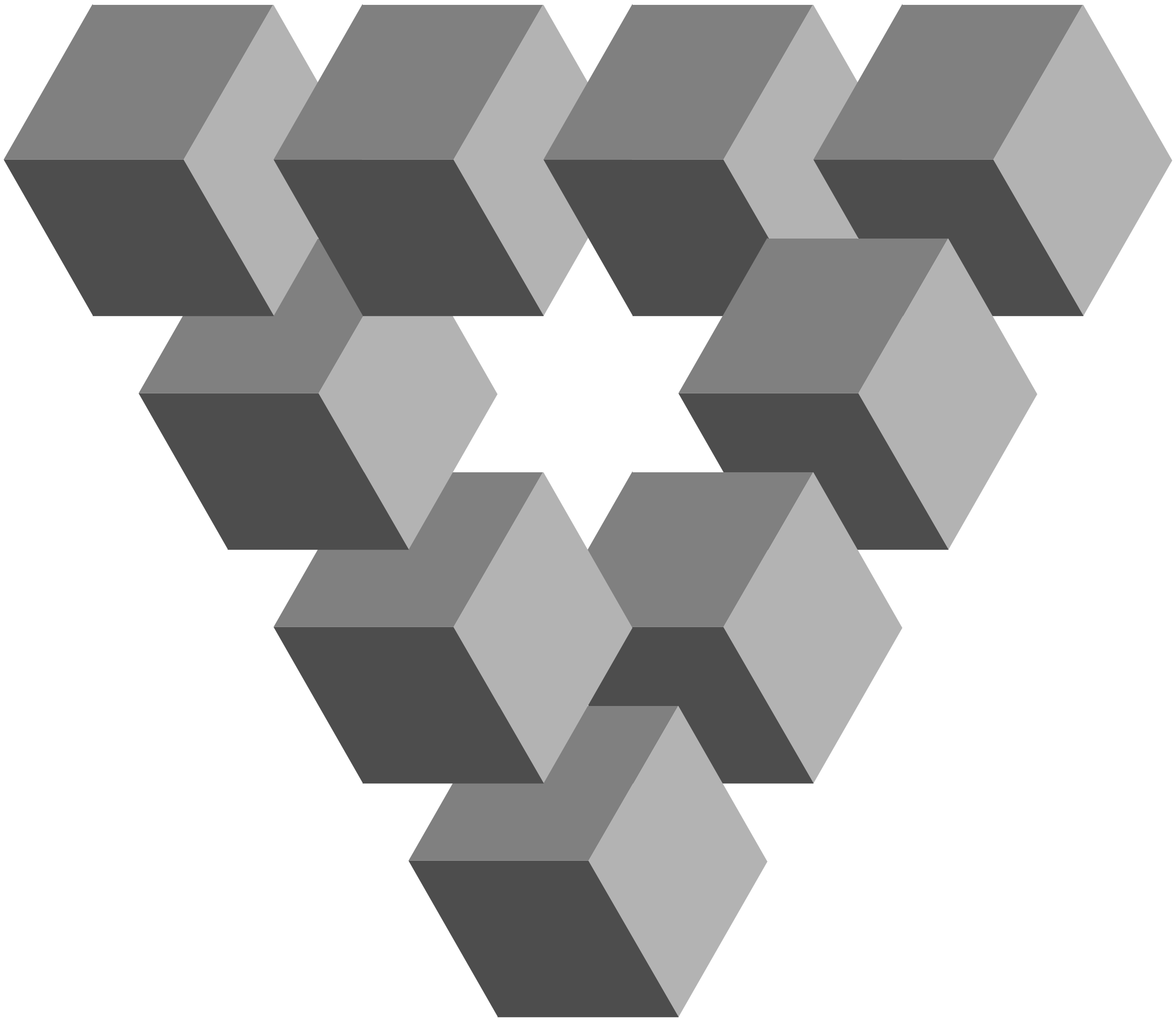 Clipart - Impossible 3D Penrose Triangle