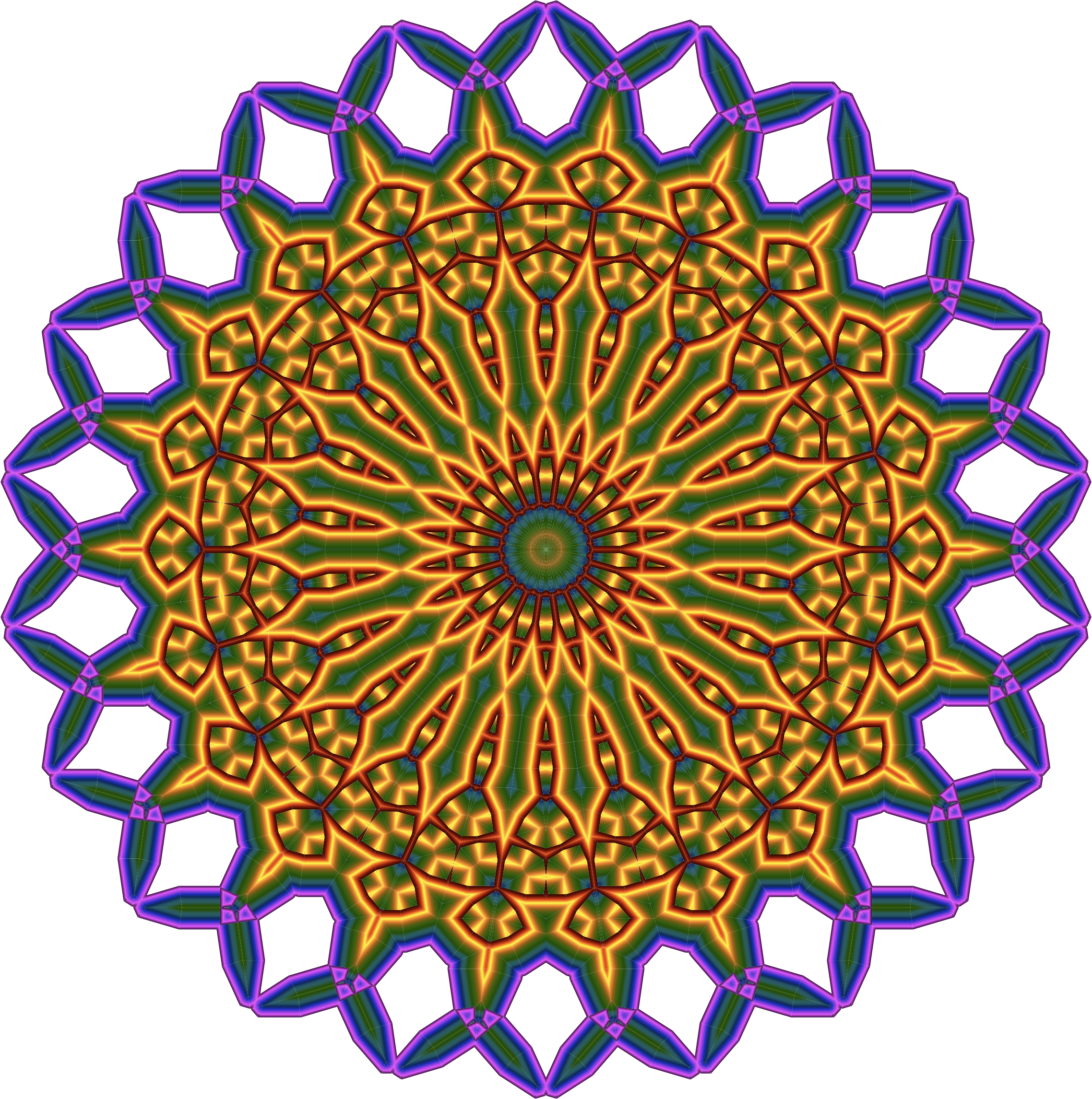 Colorful Mandala by GDJ