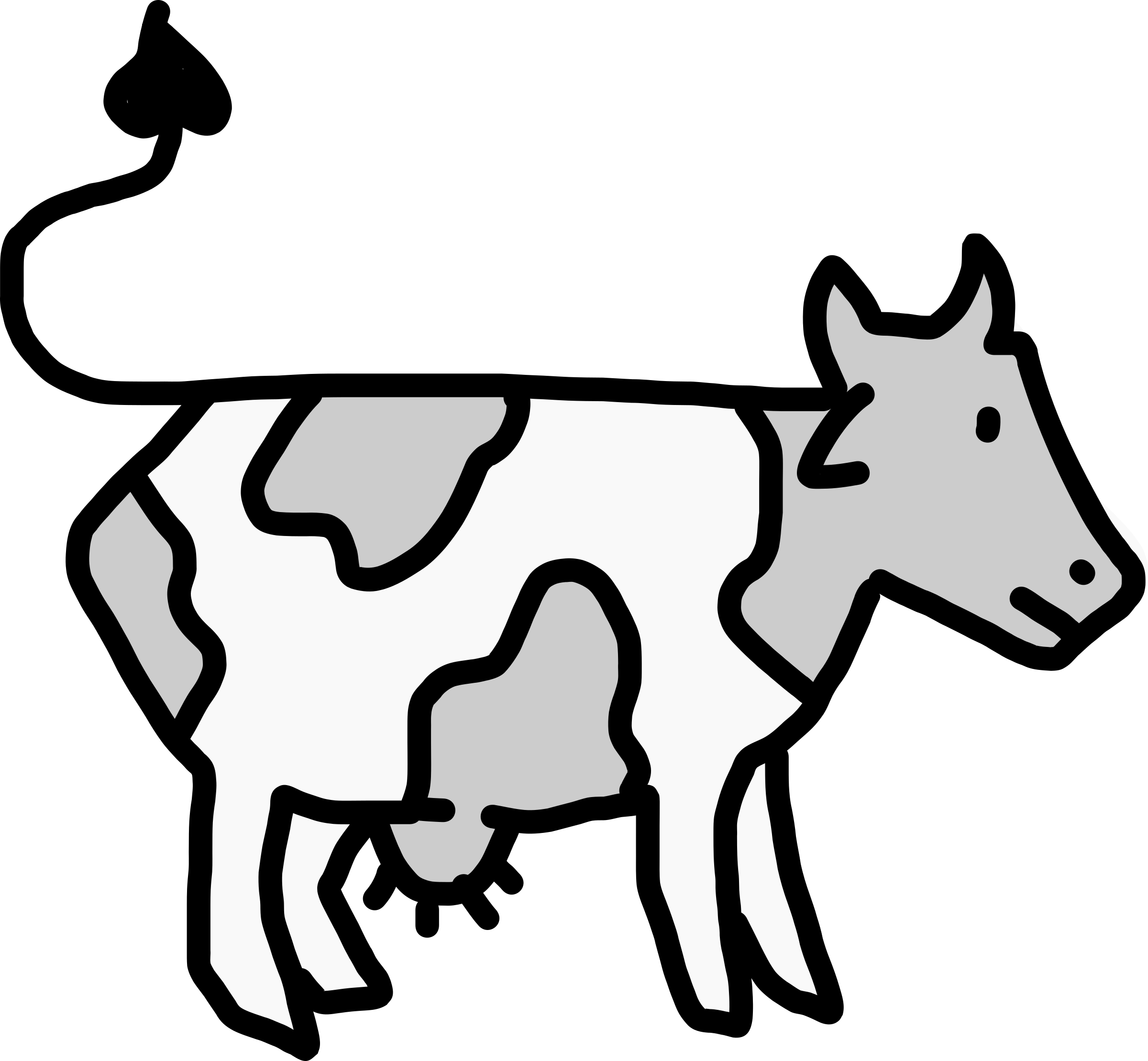 Cow (cartoon style) by rones