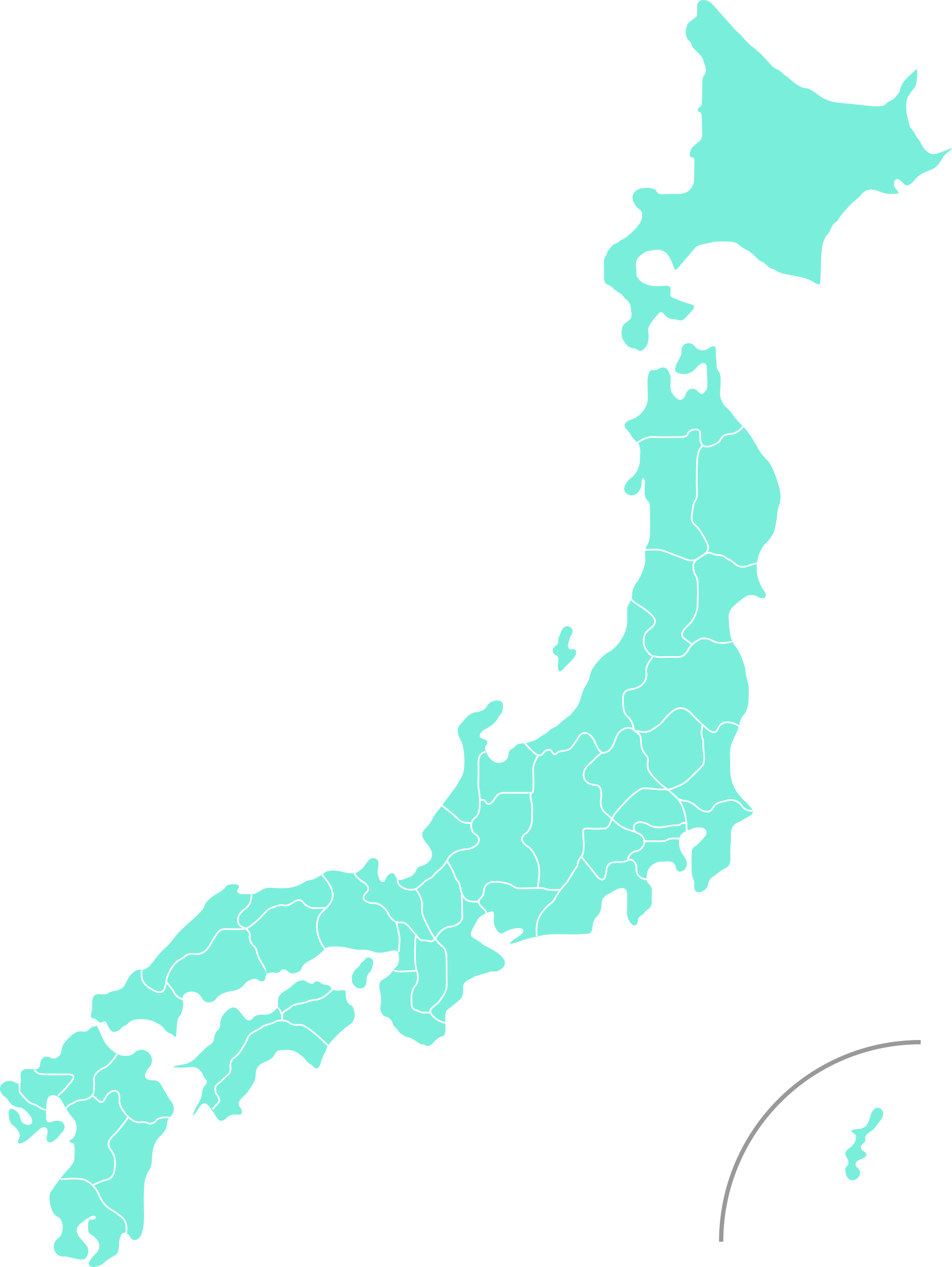 Map of Japan by tagawa