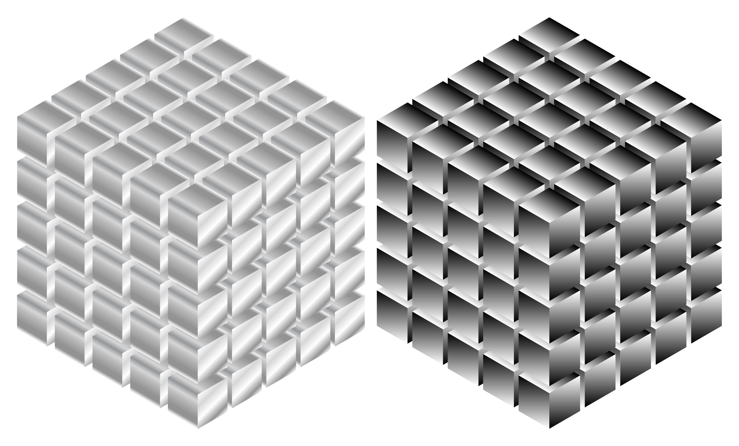 Isometric Metallic Cubes by GDJ
