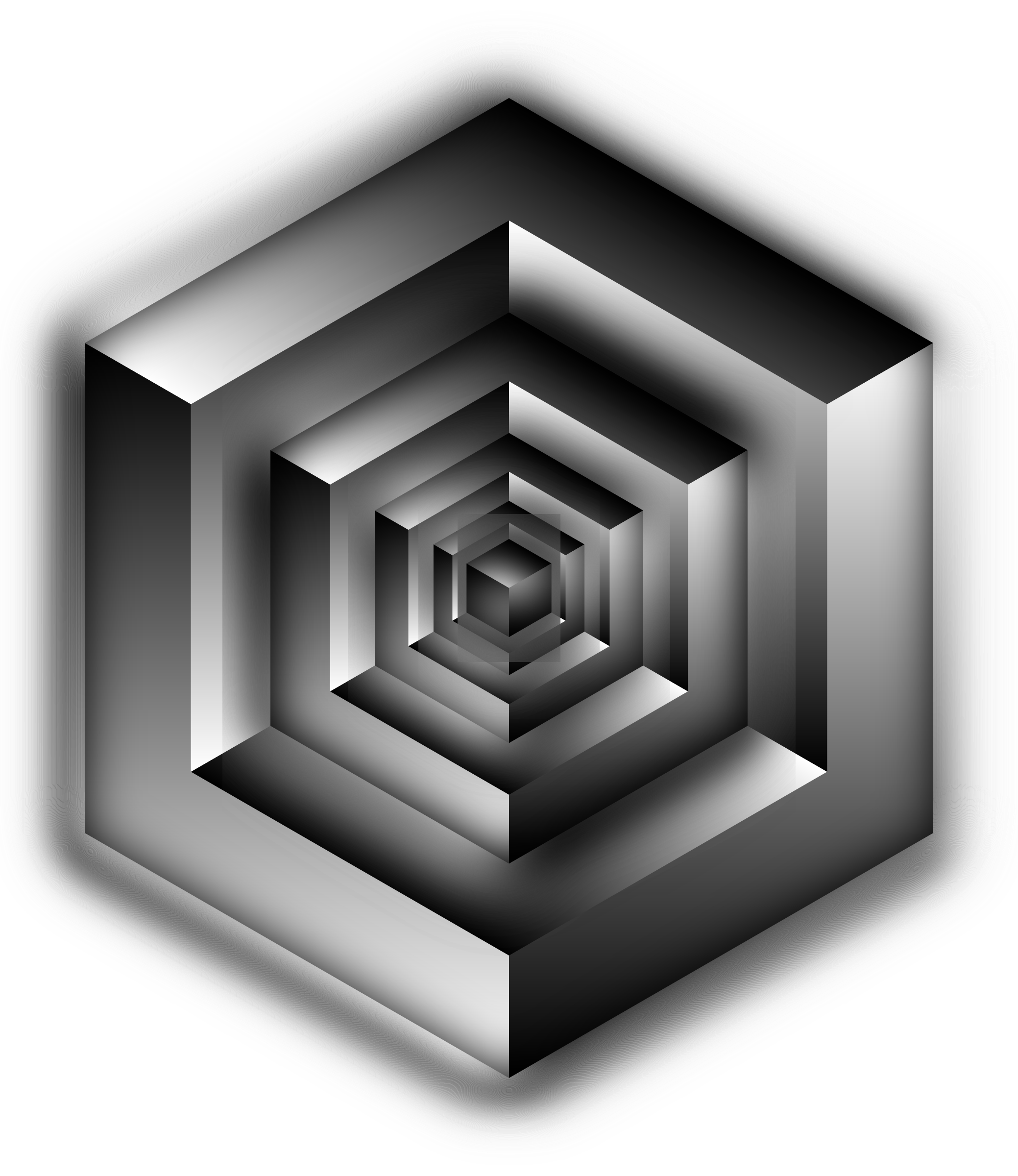 Isometric Cube Illusion Shaded by GDJ