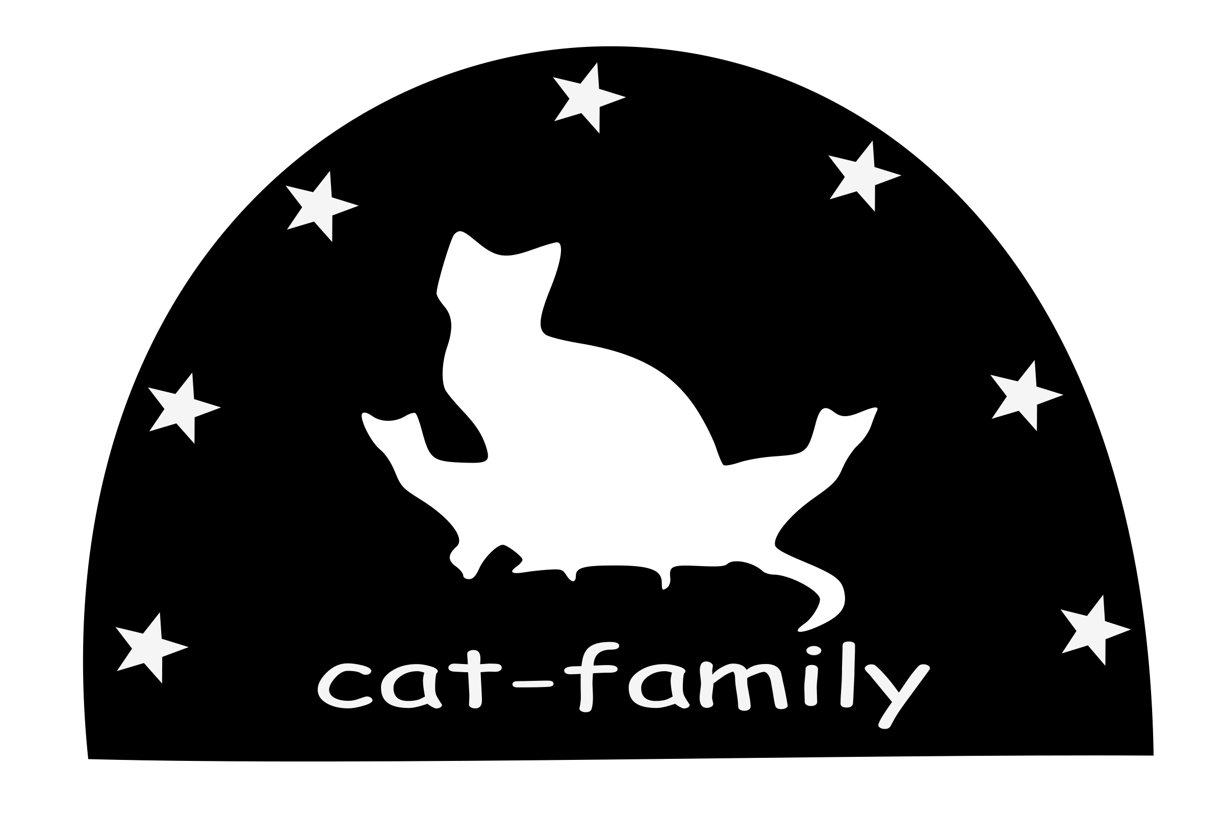 Cat-family-silhouette by yamachem