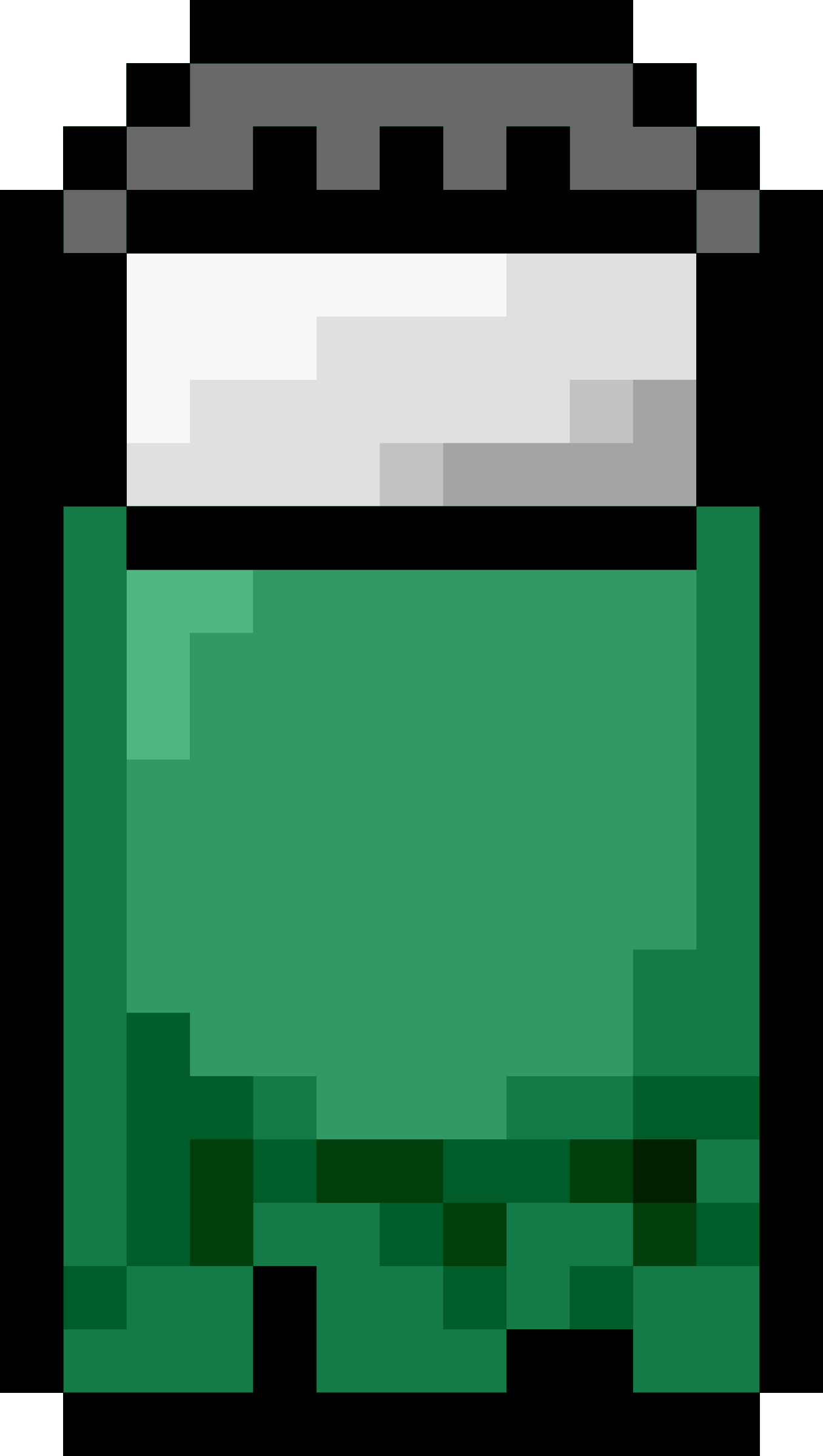 Pixel Bed Green Front by isaiah658