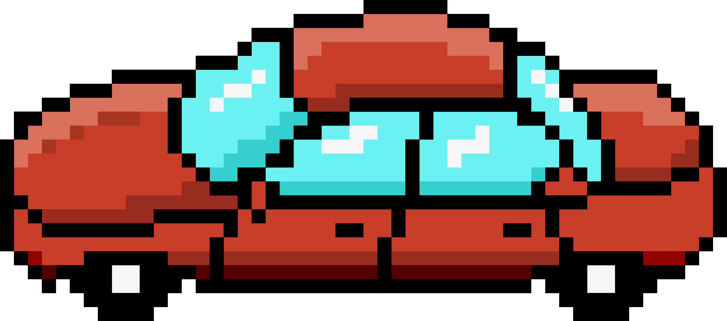 Pixel Car Red Side by isaiah658