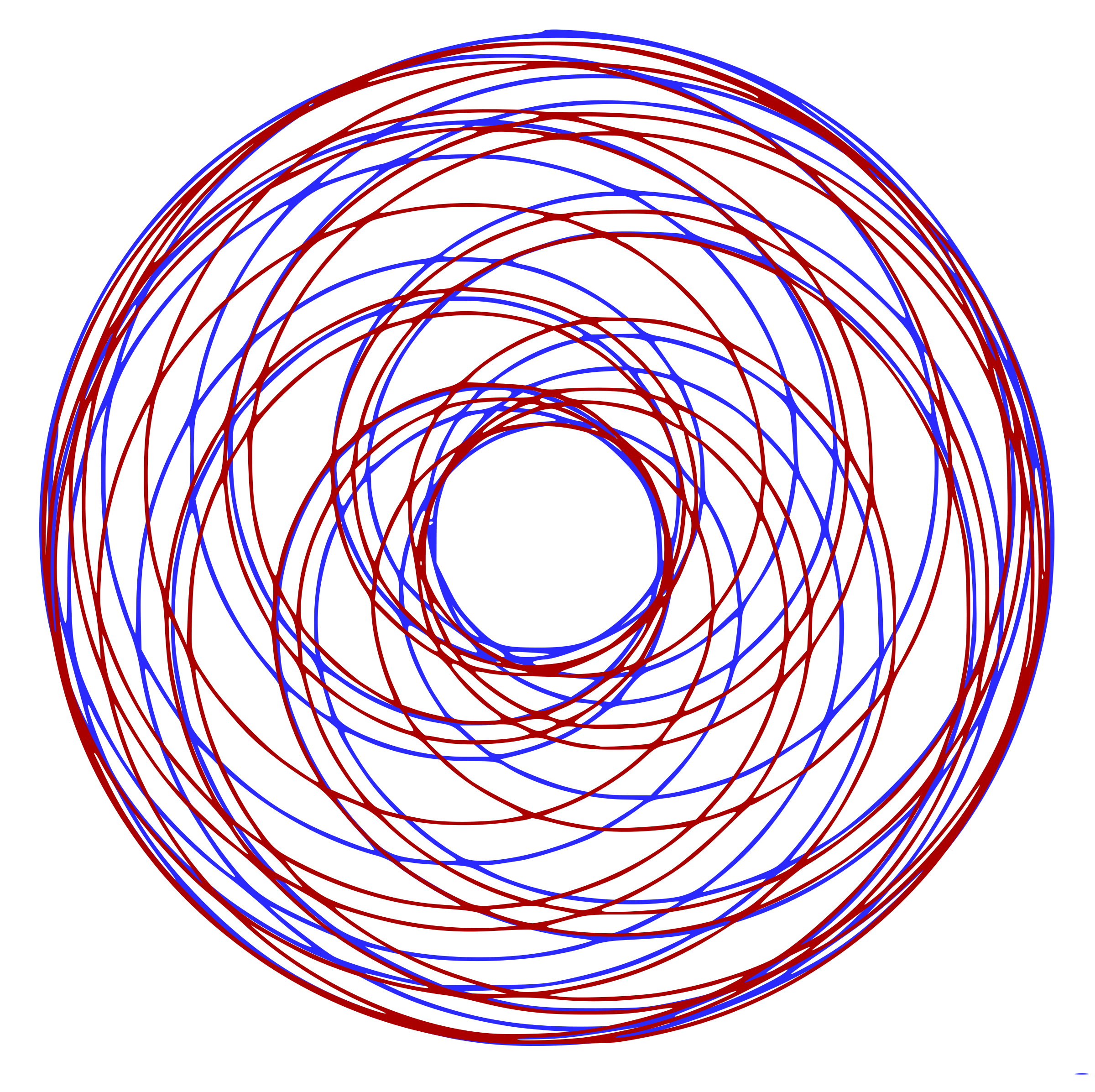 Red Blue Spirograph by j4p4n