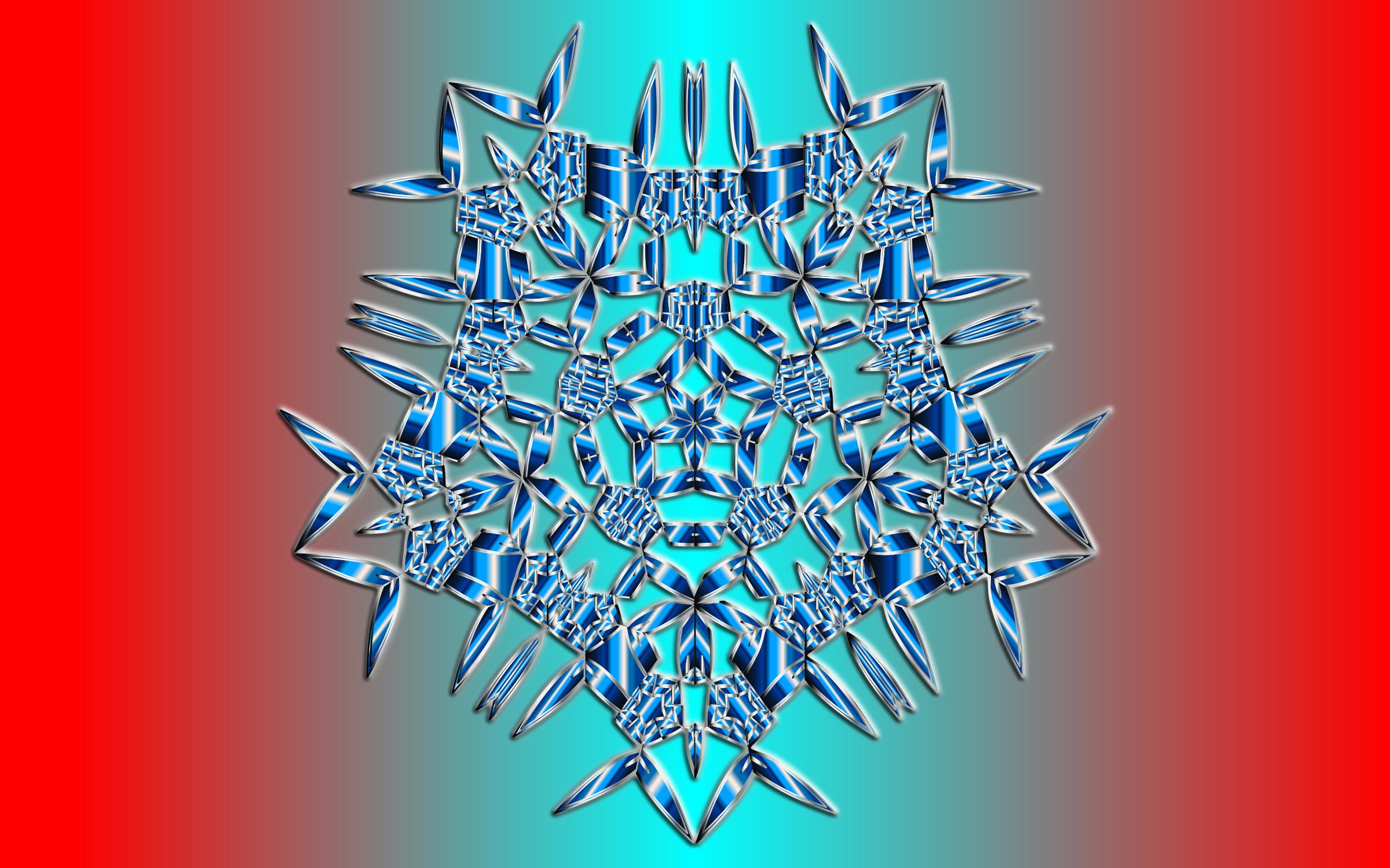 Clipart - Mandala Slash Snowflake