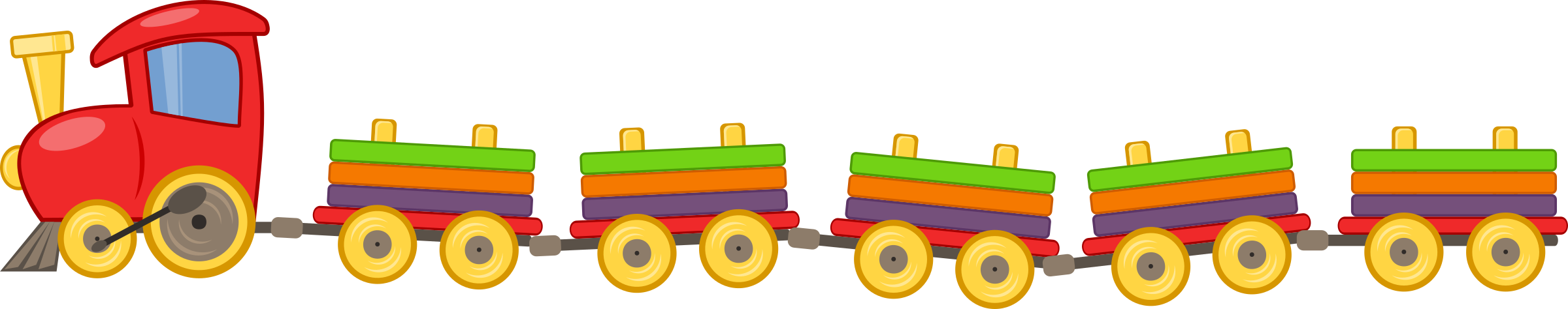 Toy train with 5 wagons by cweiske