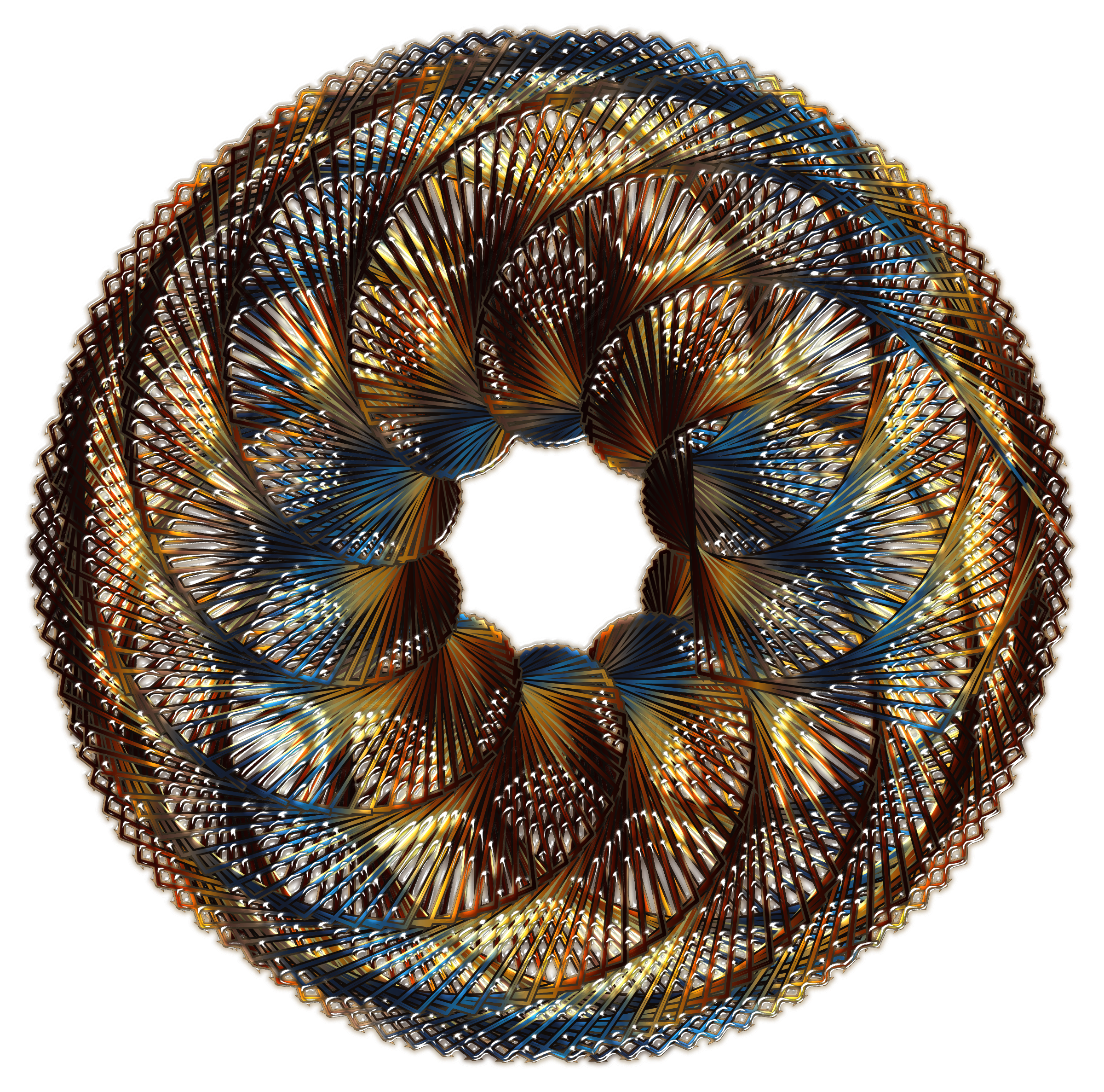 Colorful Spirograph Variation 1 by GDJ
