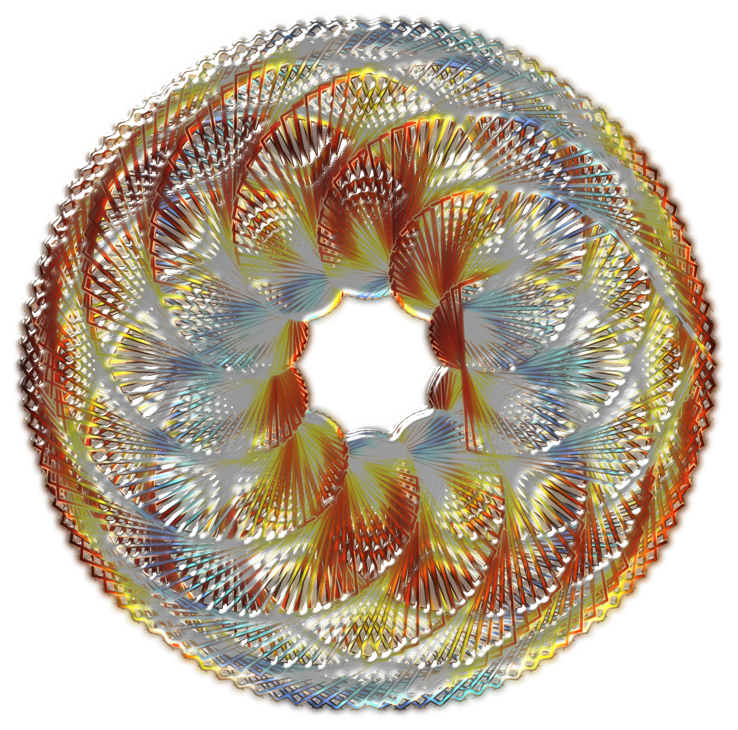 Colorful Spirograph Variation 2 by GDJ