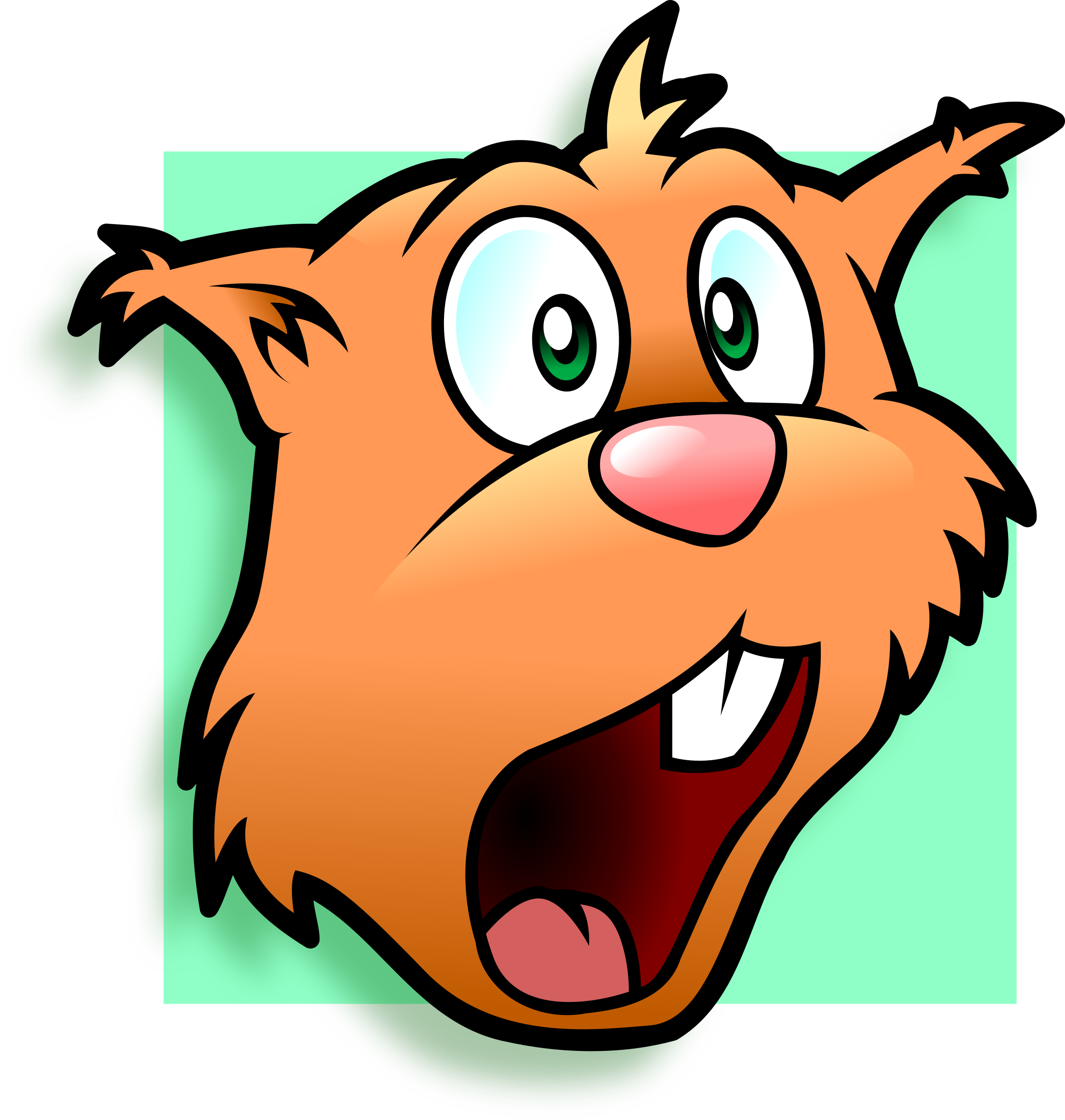 Amazed chipmunk avatar by Schade