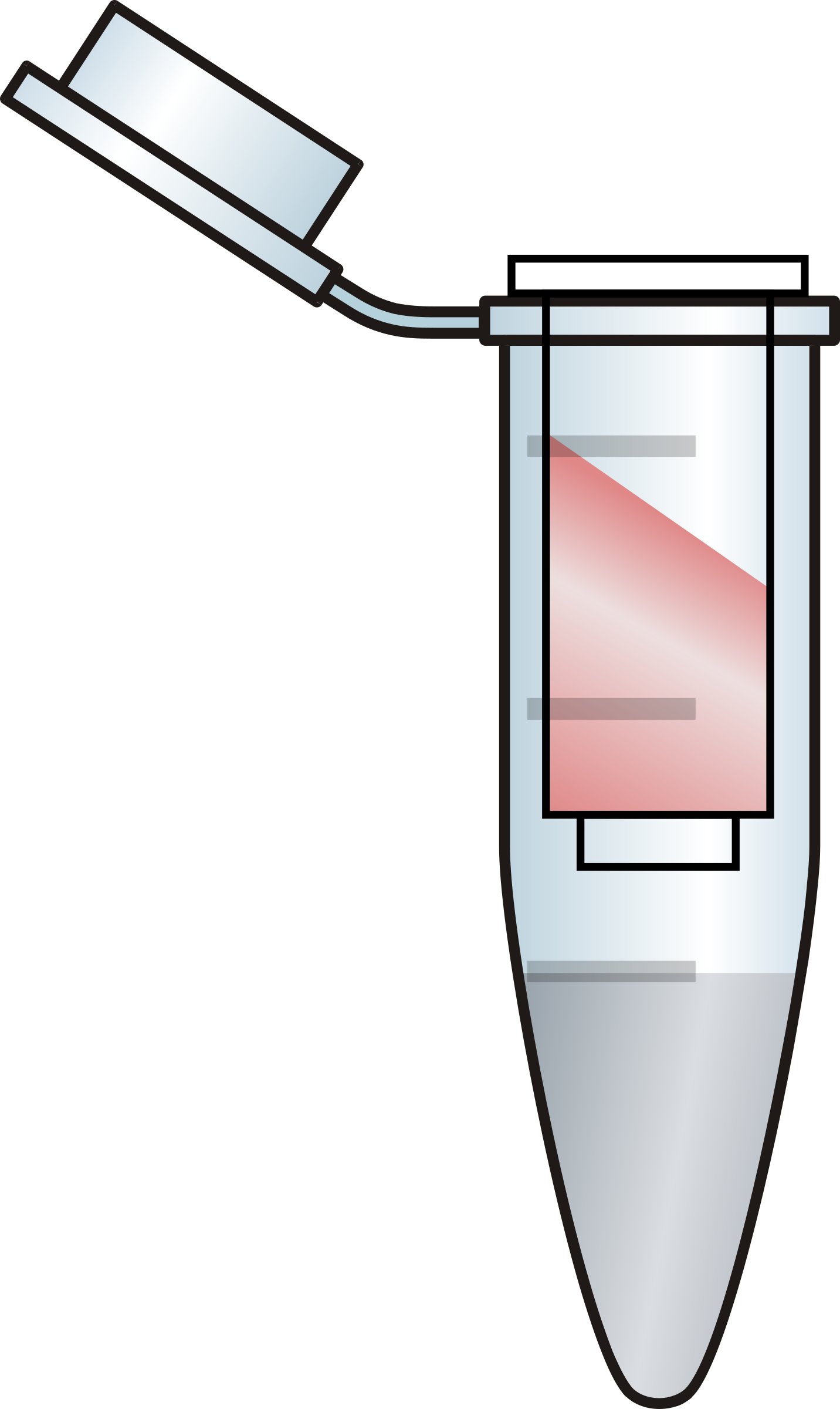 Opened Eppendorf tube with filter RED by joede