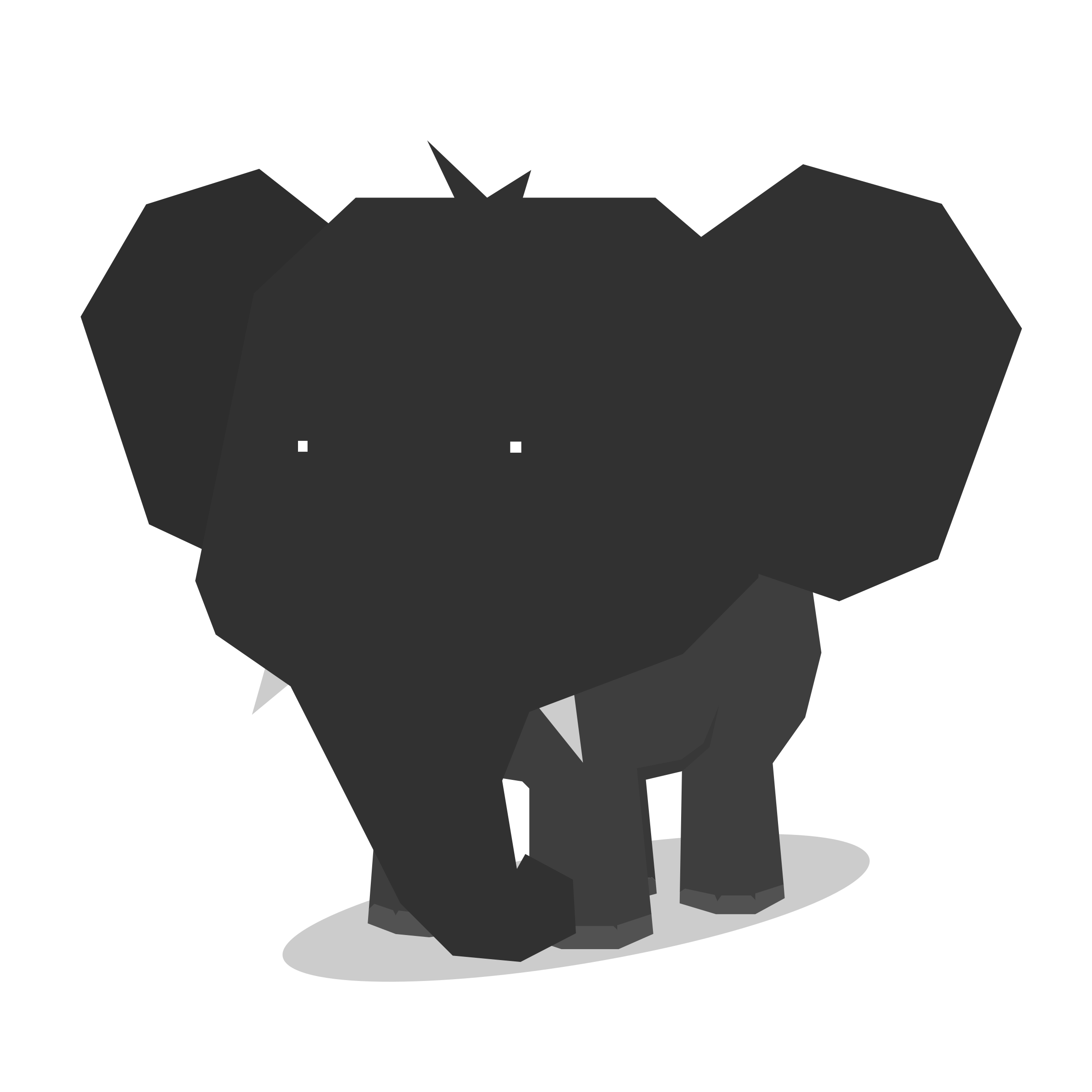 Clipart - Elephant Minimal flat design Animal