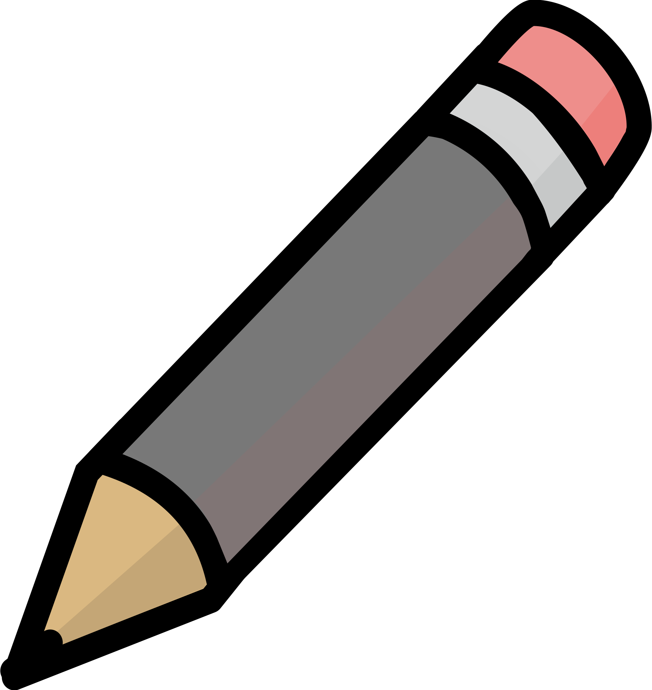 Gray Pencil Icon by j4p4n