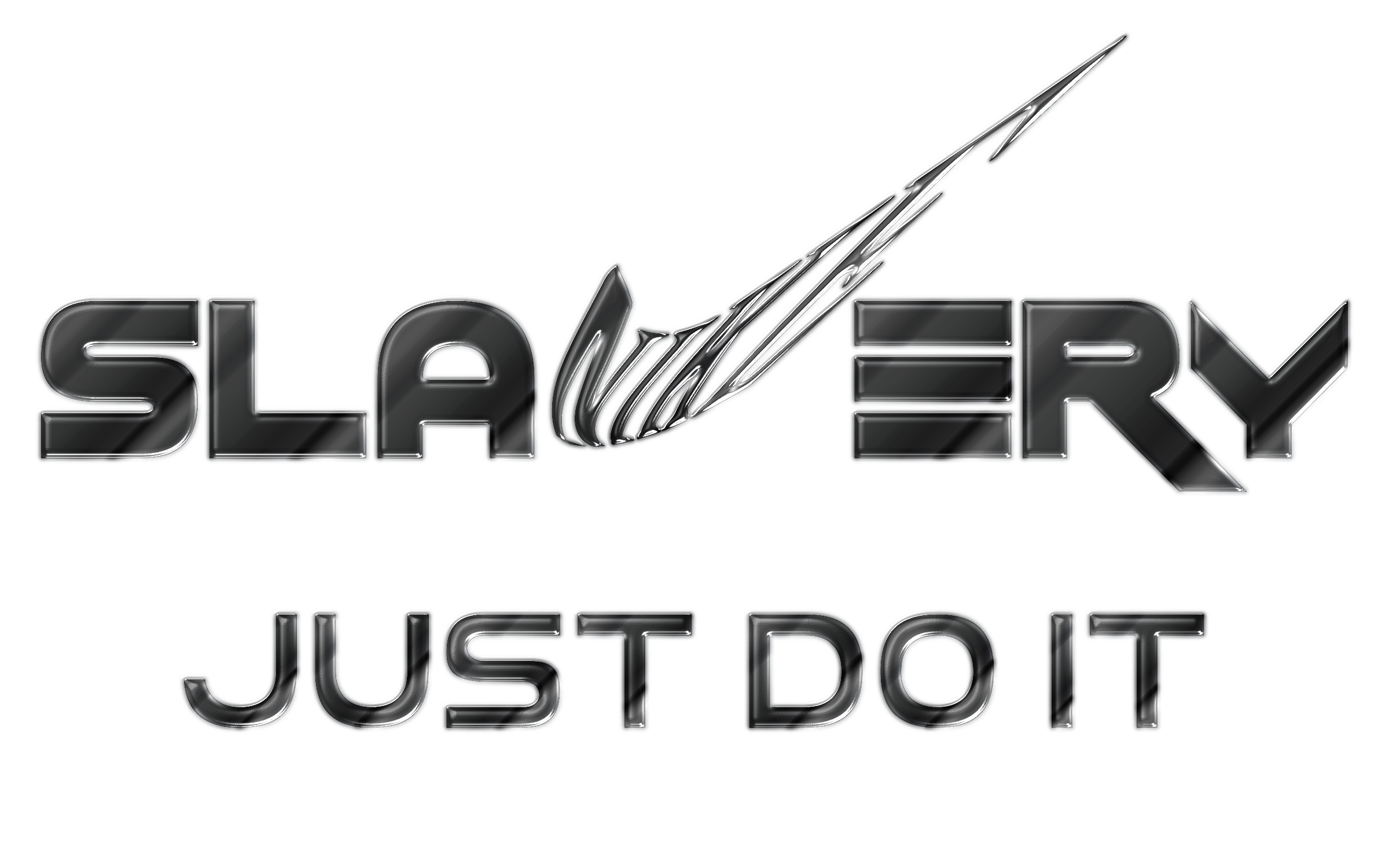 Clipart - Slavery Just Do It No Logo