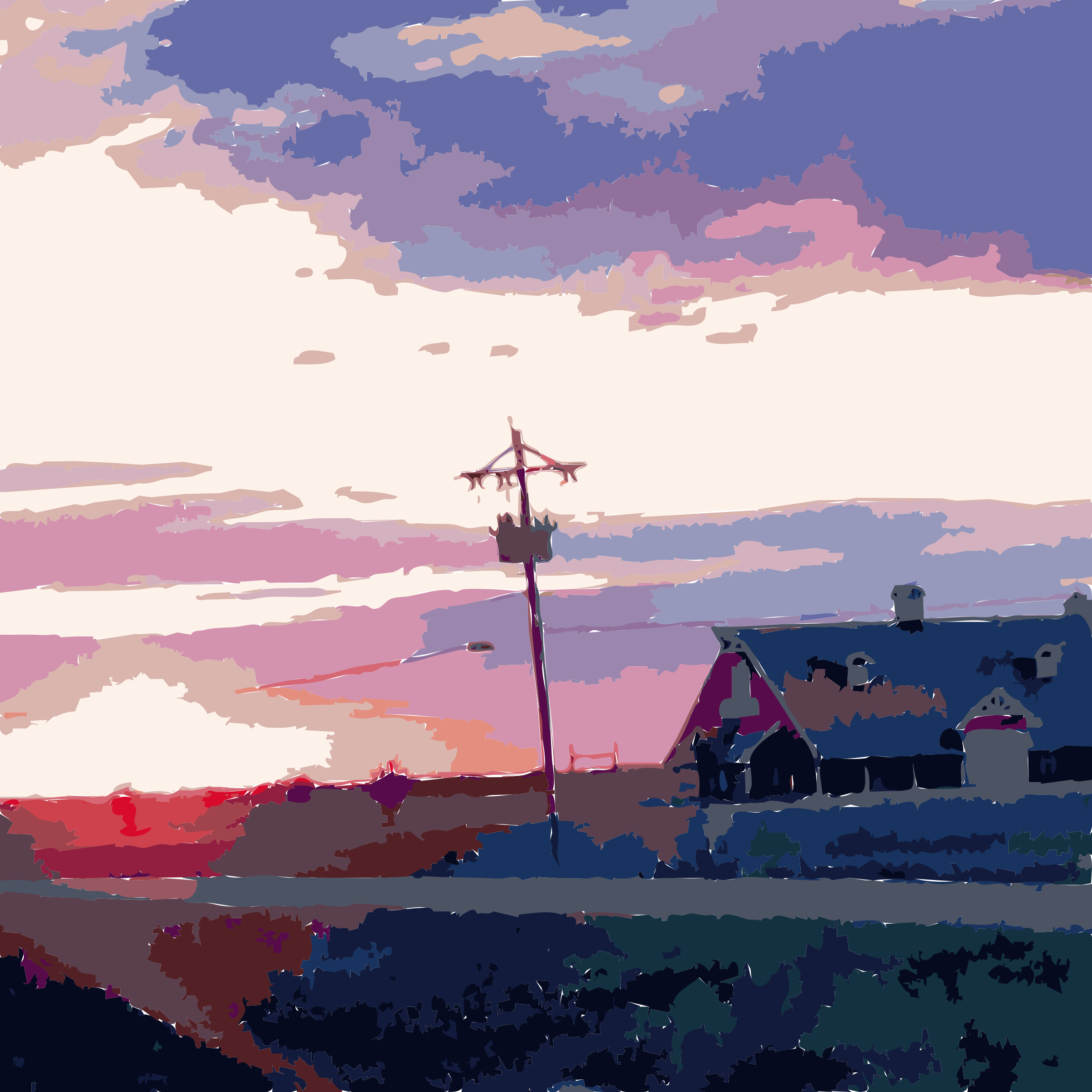 Daily Sketch Barn Sunset by keriann3