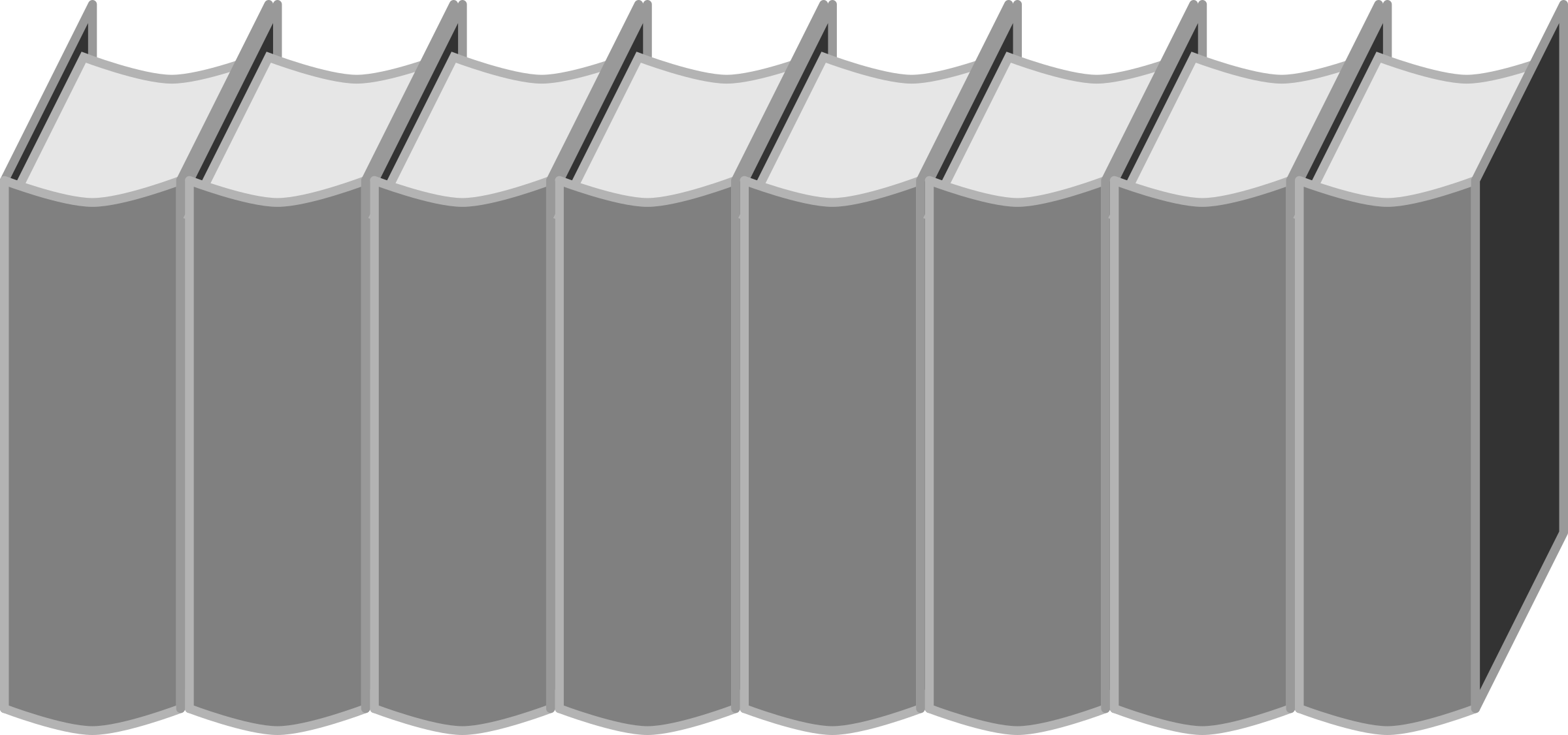 Clipart - Row of books