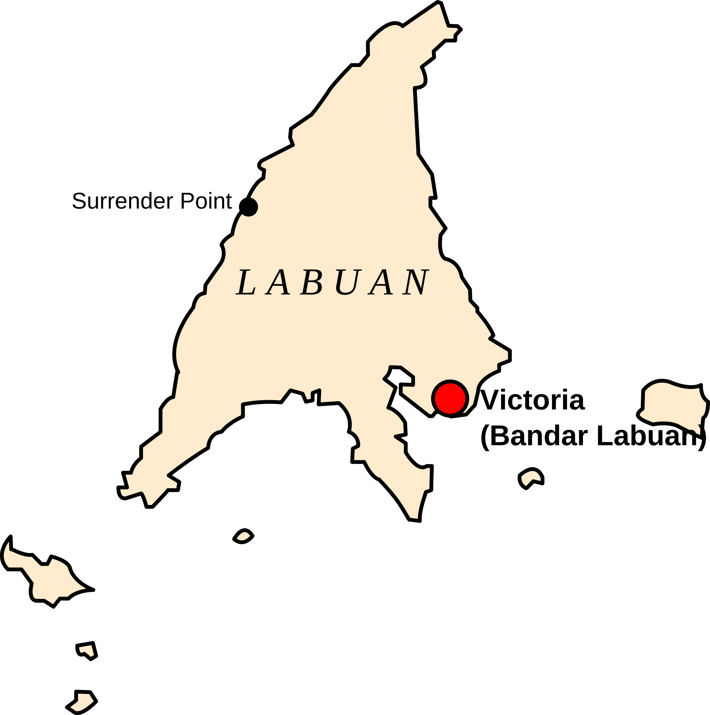 Map of Labuan, Malaysia by derkommander0916